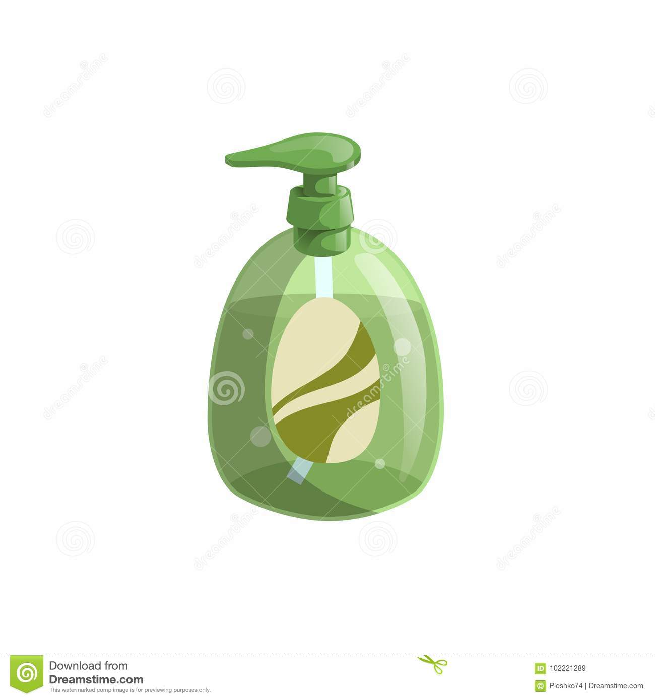 Trendy Cartoon Style Green Liquid Soap Bottle With Dispenser And Bubbles Hygiene And Health Care Vector Illustration Stock Vector Illustration Of Icon Face 102221289