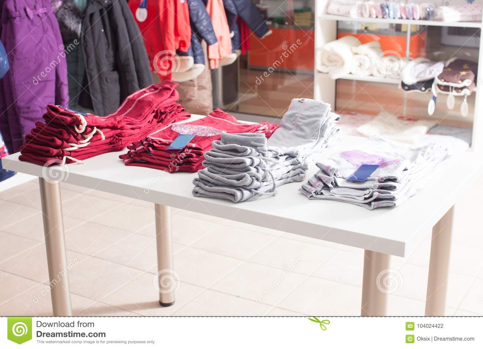 Trendy clothing shop stock photo  Image of casual, fashion