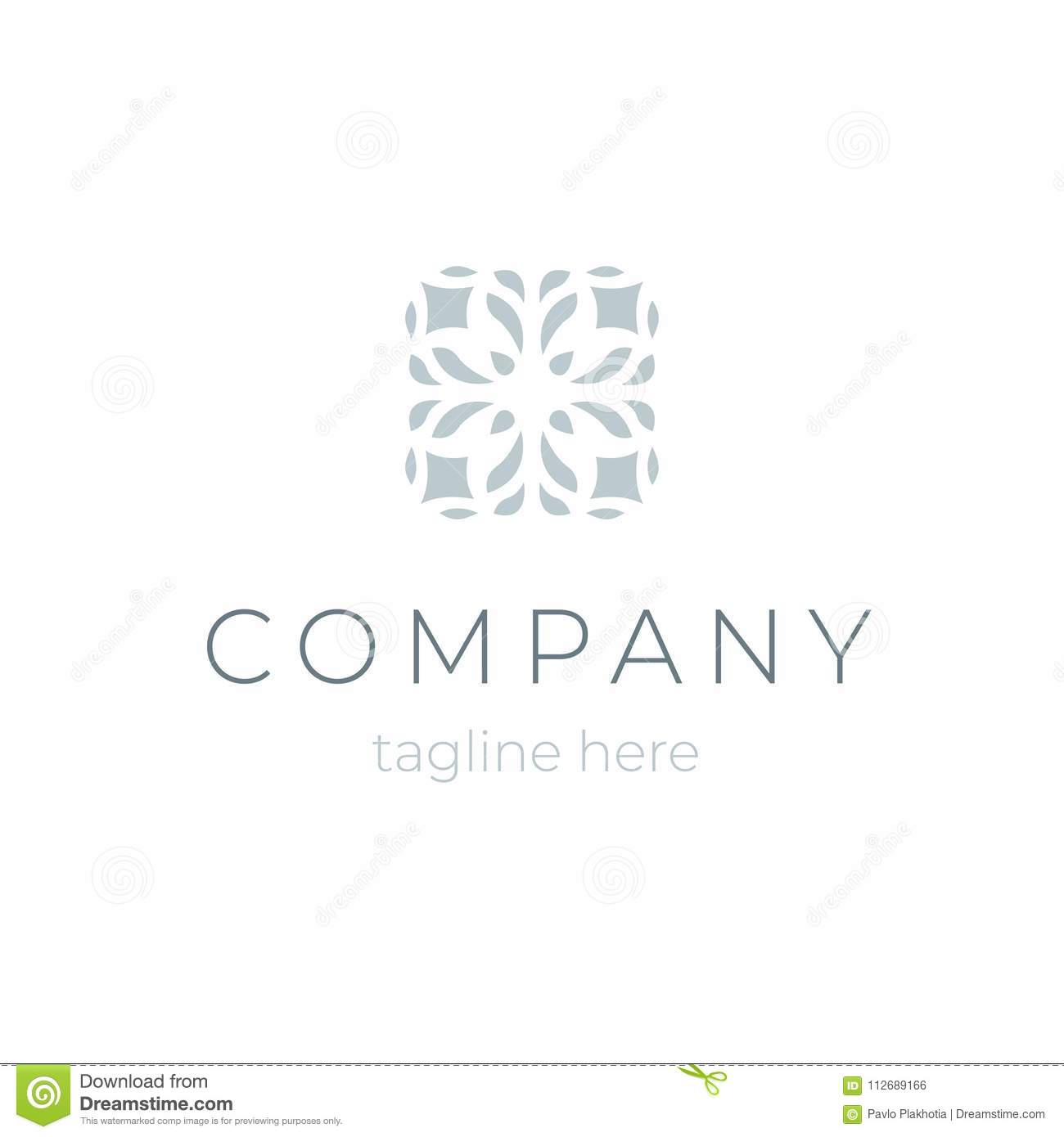 Trendy Company Logo Template Floral Symbol For Beauty Saloon Or