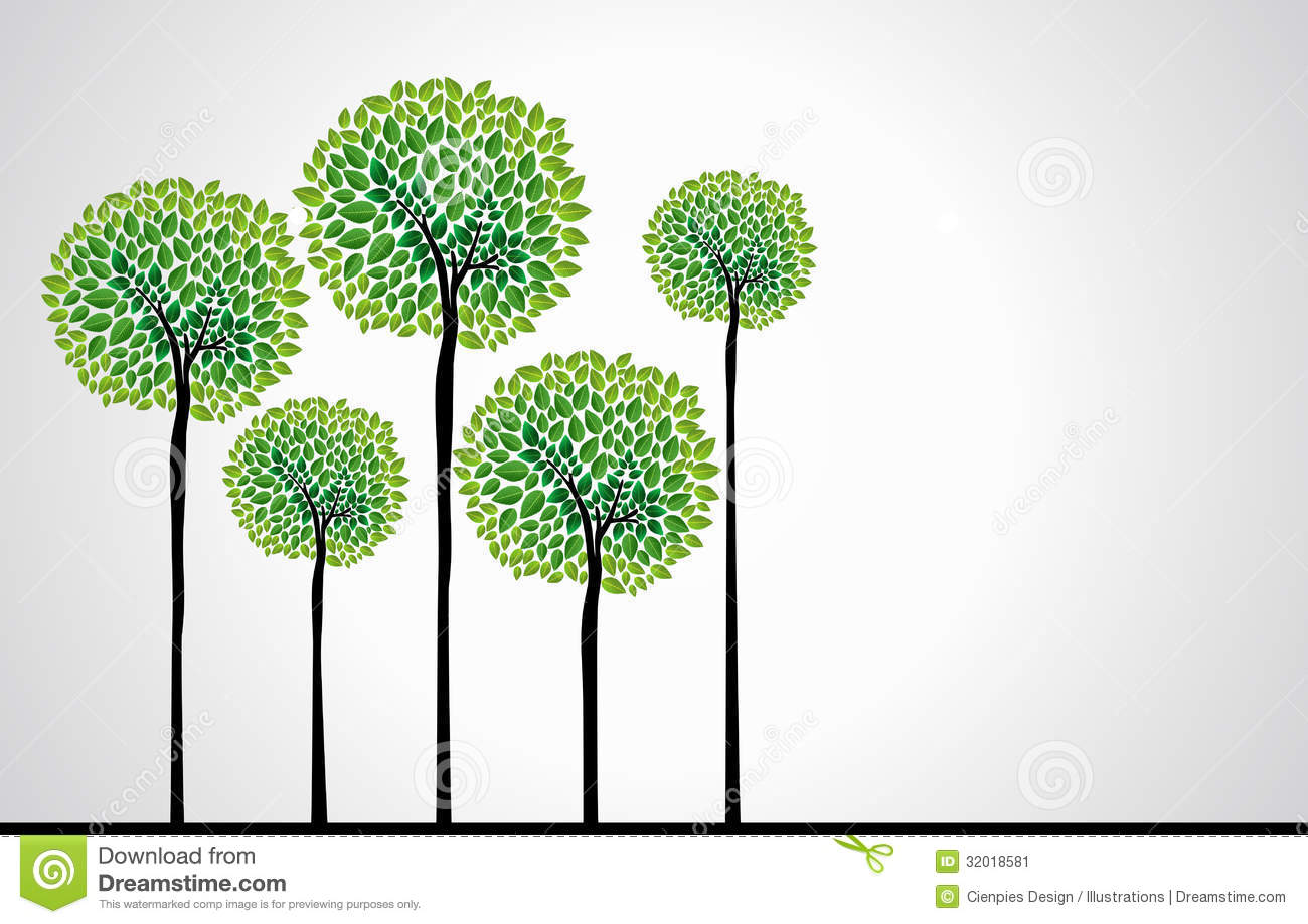 Trendy Concept Trees Vector Stock Image Image 32018581