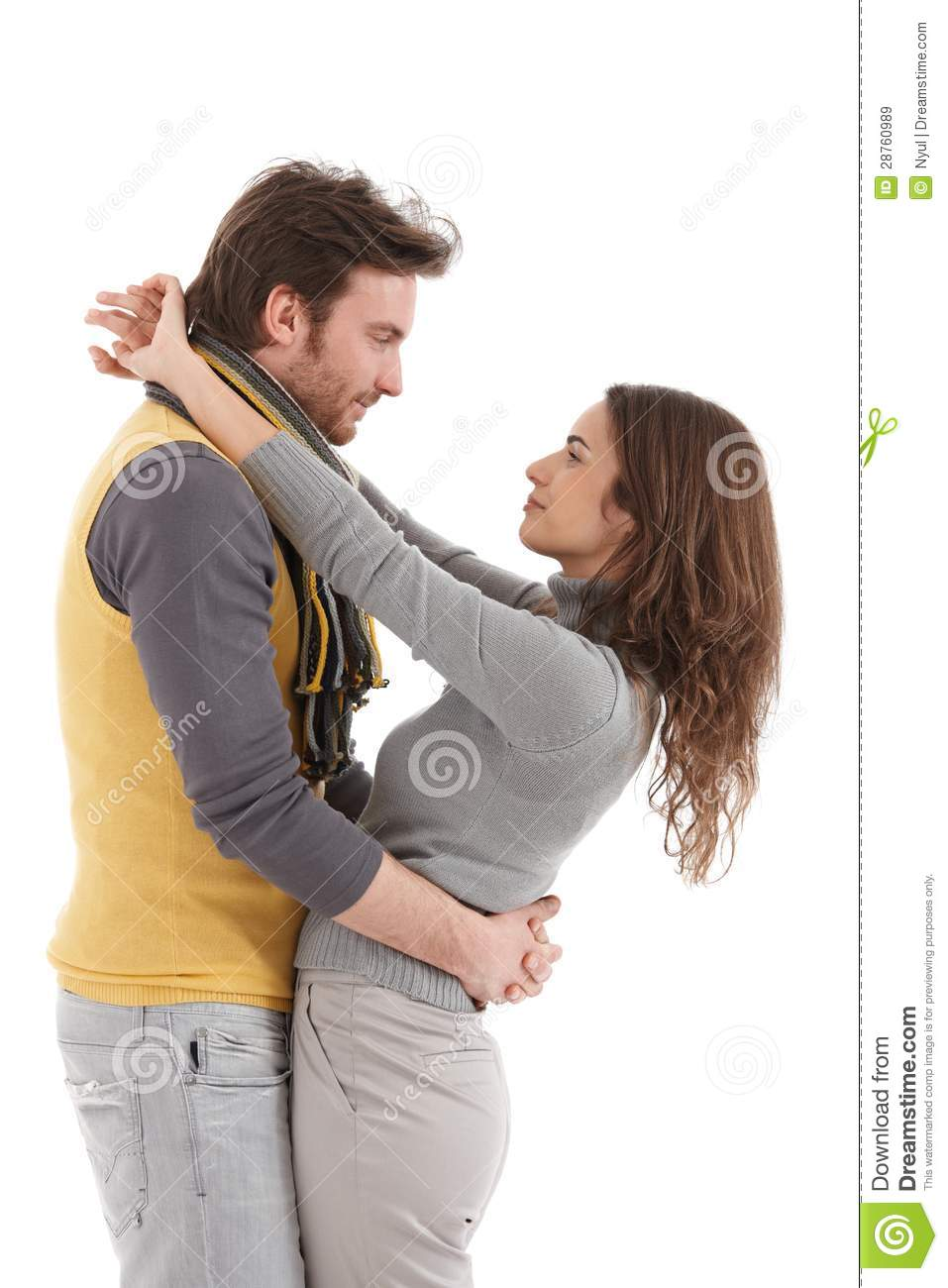 trendy couple embracing with passion royalty free stock