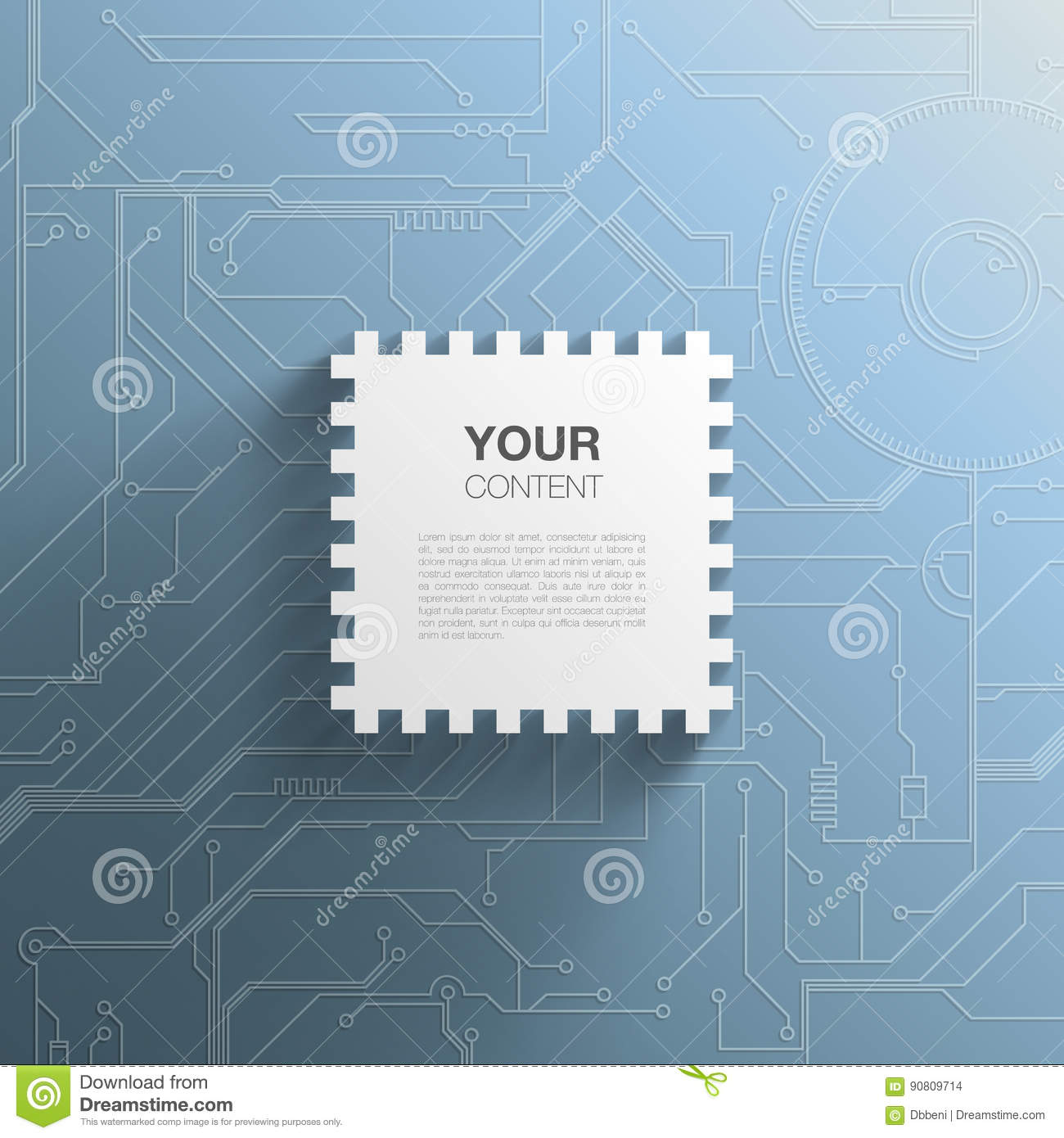 Trendy 3d Microchip Design Stock Vector Illustration Of Board Circuit Free Photo Hd Public Domain Pictures With Transparent Shadow And Detailed Printed Background More Similar Illustrations
