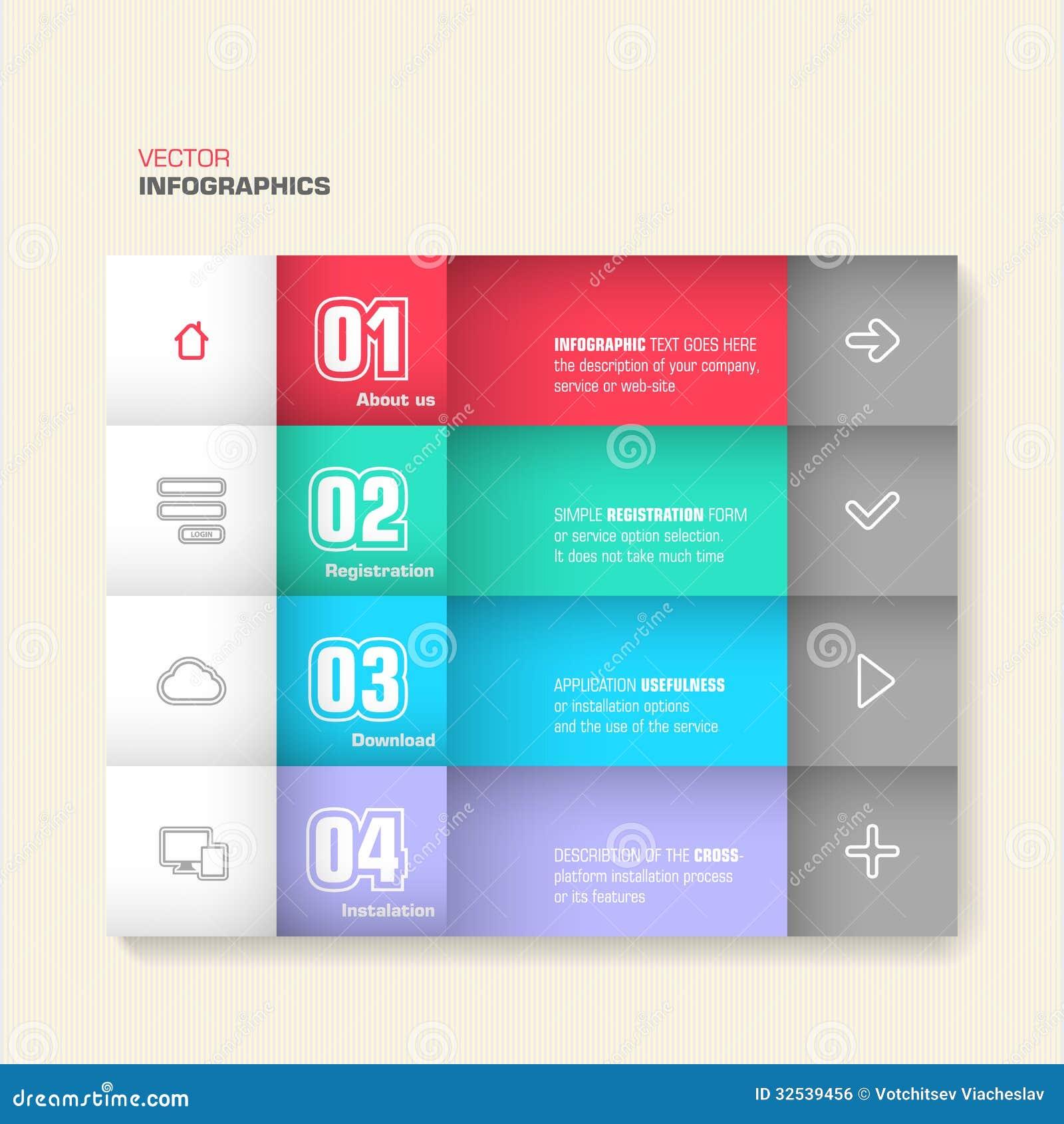 Trendy Design Infographic Stock Vector Illustration Of Internet