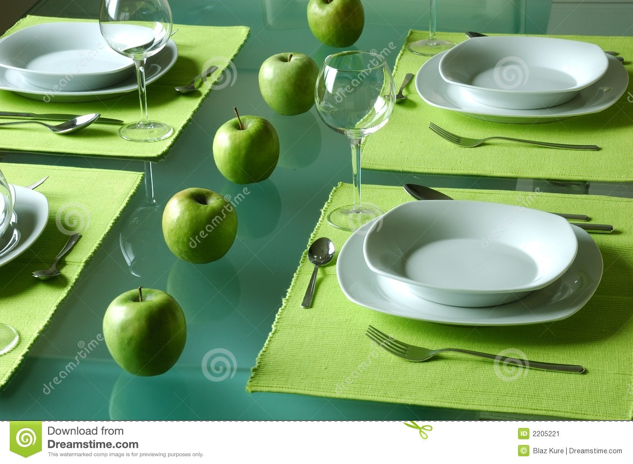 Trendy Dining Table Setting Stock Image Image 2205221