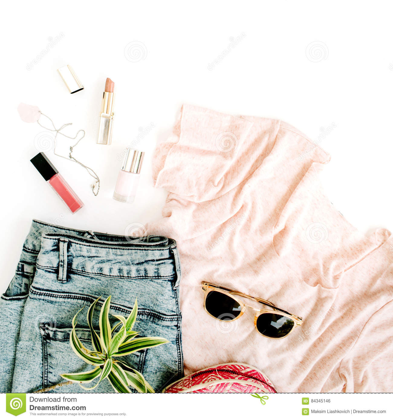 Trendy feminine clothes and accessories
