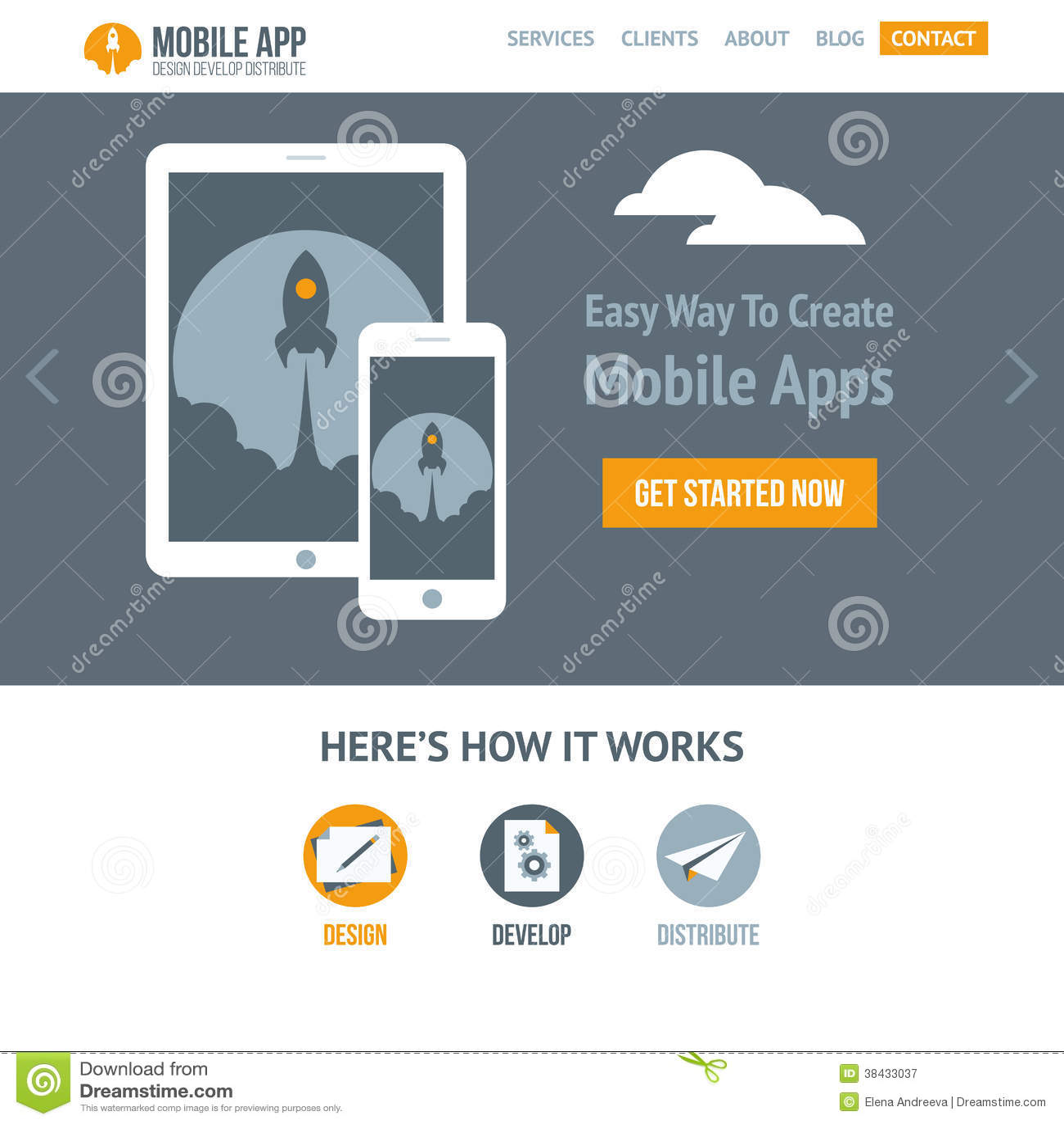trendy flat vector website template for company creating mobile trendy flat vector website template for company creating mobile apps