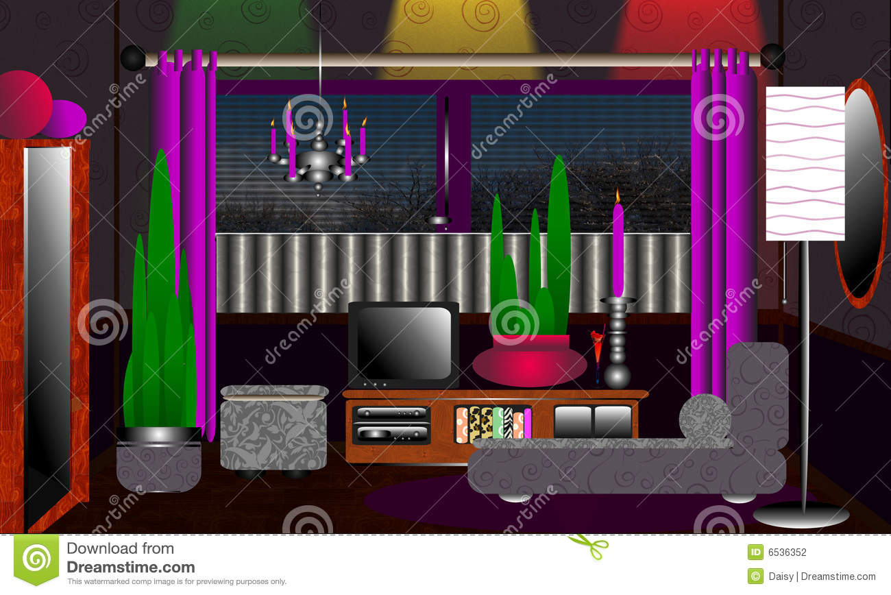 Purple And Grey Living Room Trendy Funky Living Room Grey And Purple Stock Photography Image