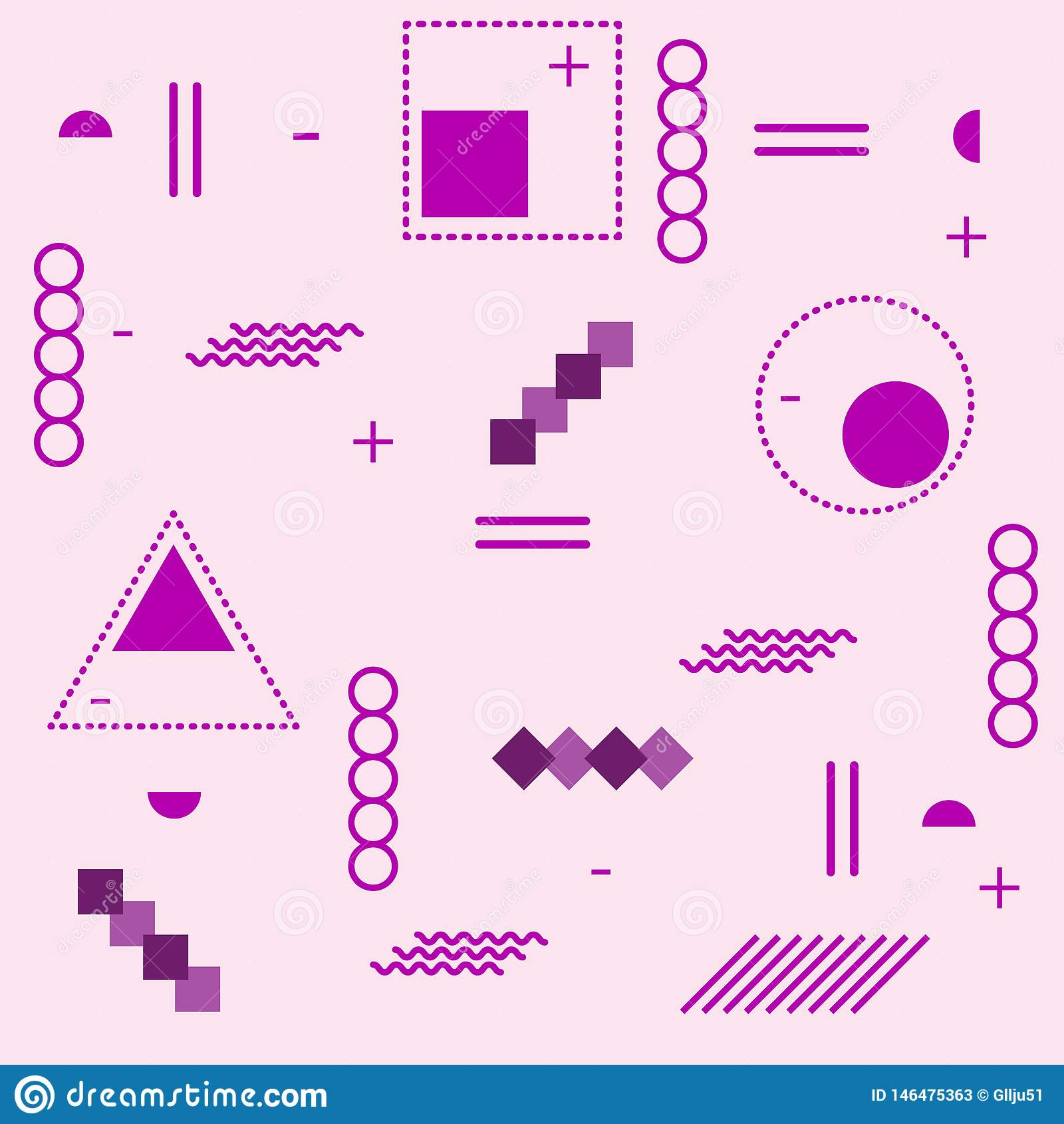 Trendy Poster Designs: Trendy Geometric Elements Memphis Cards. Retro Style