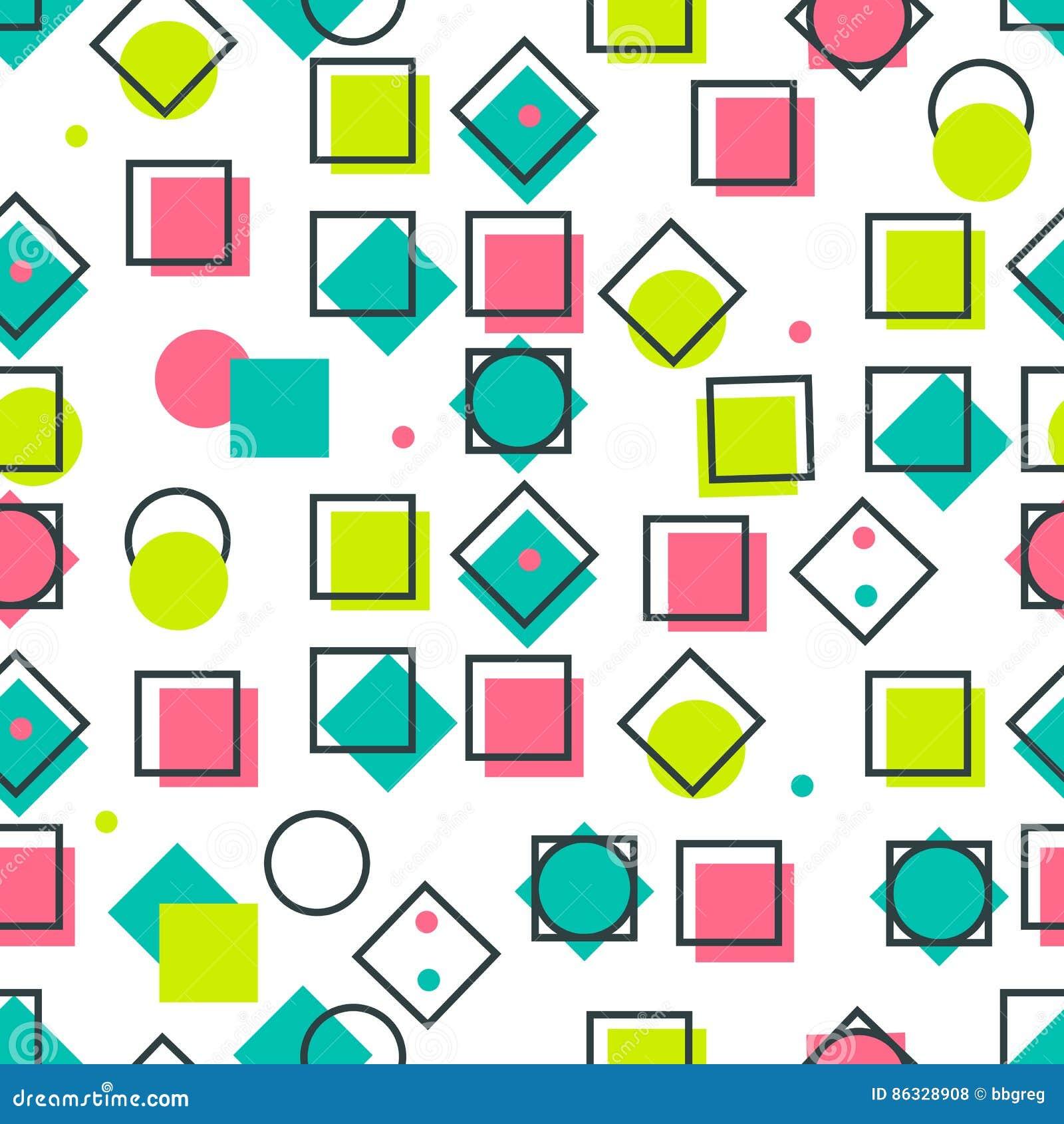 Trendy Style Geometric Elements Memphis Royalty-Free Stock ...