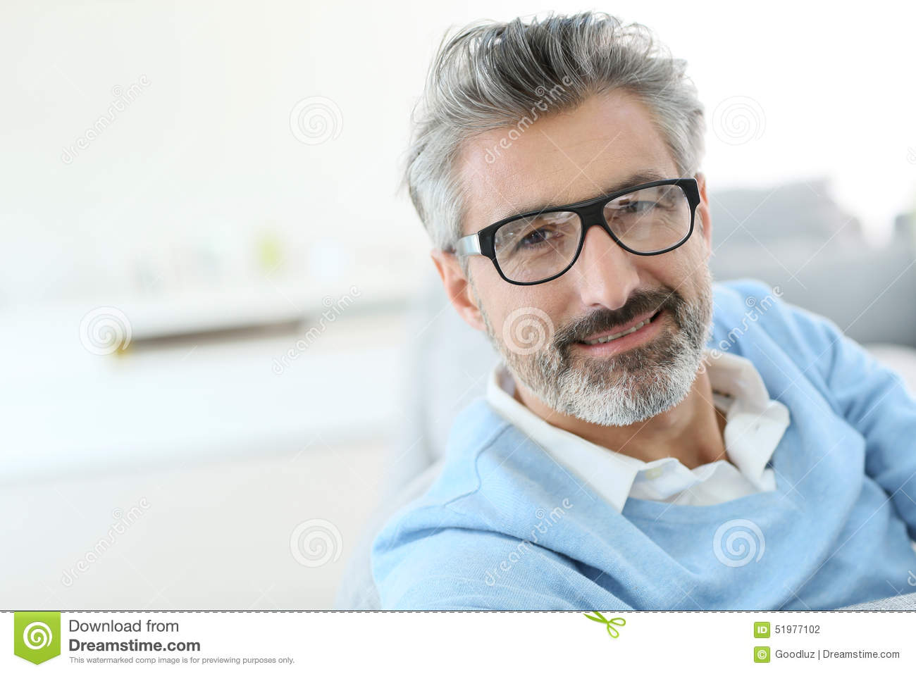 Trendy Handsome Man Wearing Glasses Stock Photo - Image ...
