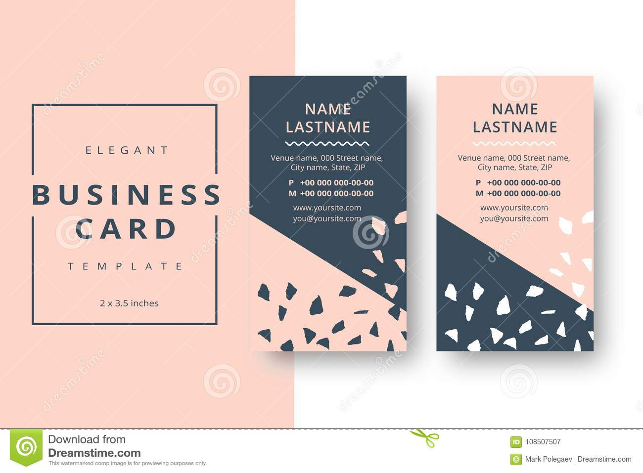 Trendy minimal abstract business card template modern corporate download trendy minimal abstract business card template modern corporate stock vector illustration of elegant cheaphphosting Choice Image