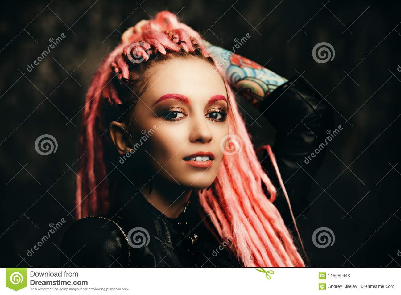 Trendy Modern Hairstyle Stock Photo Image Of Colour 116660448