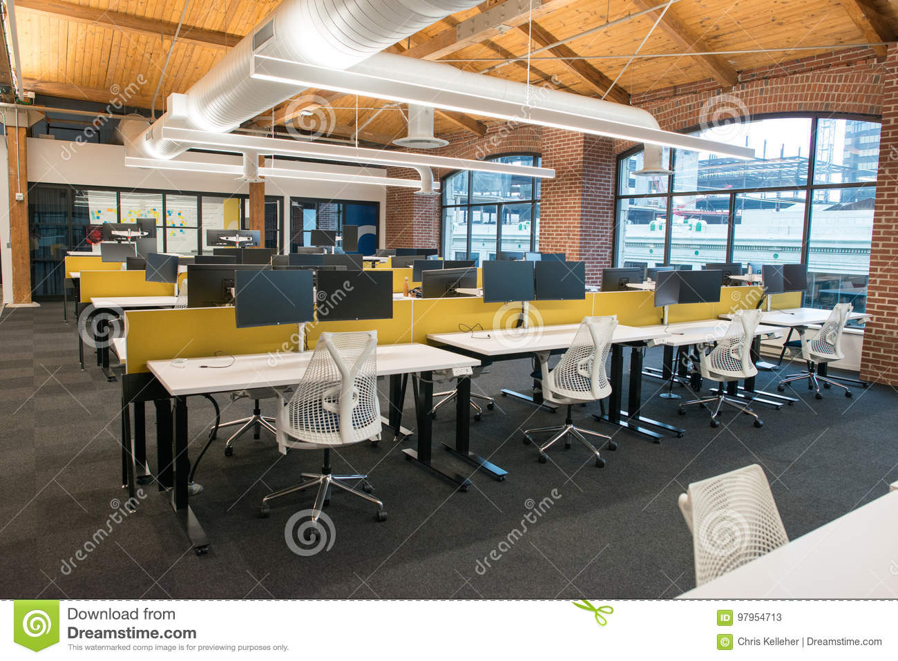 Trendy office Fashionable Trendy Modern Open Concept Loft Office Space With Big Windows Natural Light And Layout Ddproperty Trendy Modern Open Concept Loft Office Space With Big Windows