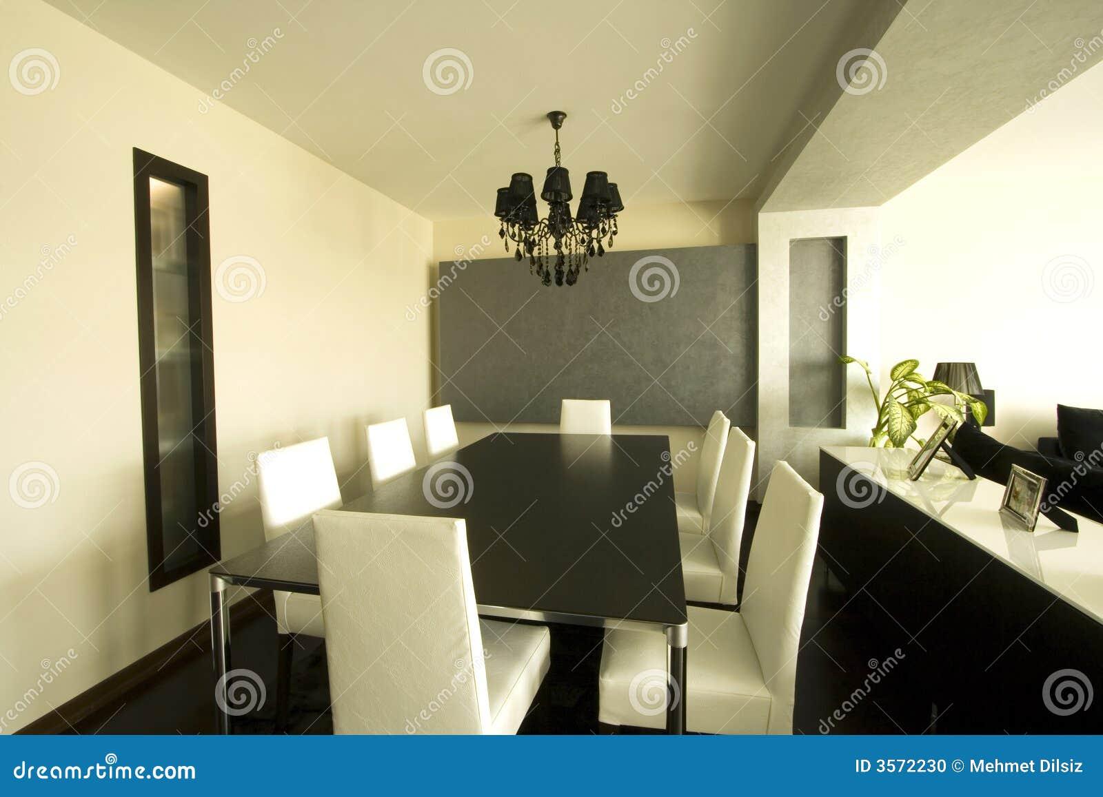 Trendy moderne eetkamer stock foto afbeelding bestaande uit flat 3572230 - Moderne woonkamer eetkamer ...