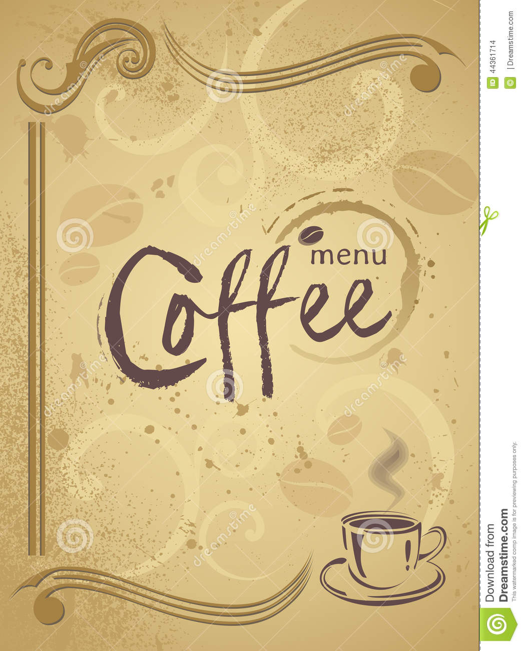 Trendy Restaurant Menu Background To Any Creative Modern