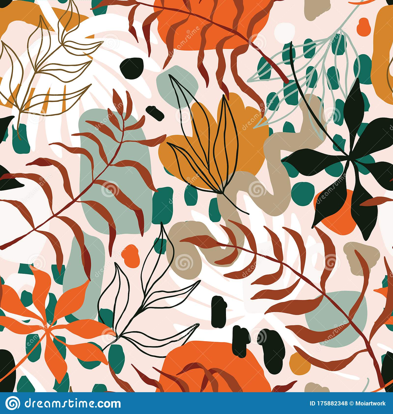 Trendy Seamless Pattern With Interesting Tropical Leaves Stock Vector Illustration Of Exotic Aesthetic 175882348 Collection by shea marie • last updated 6 weeks ago. dreamstime com