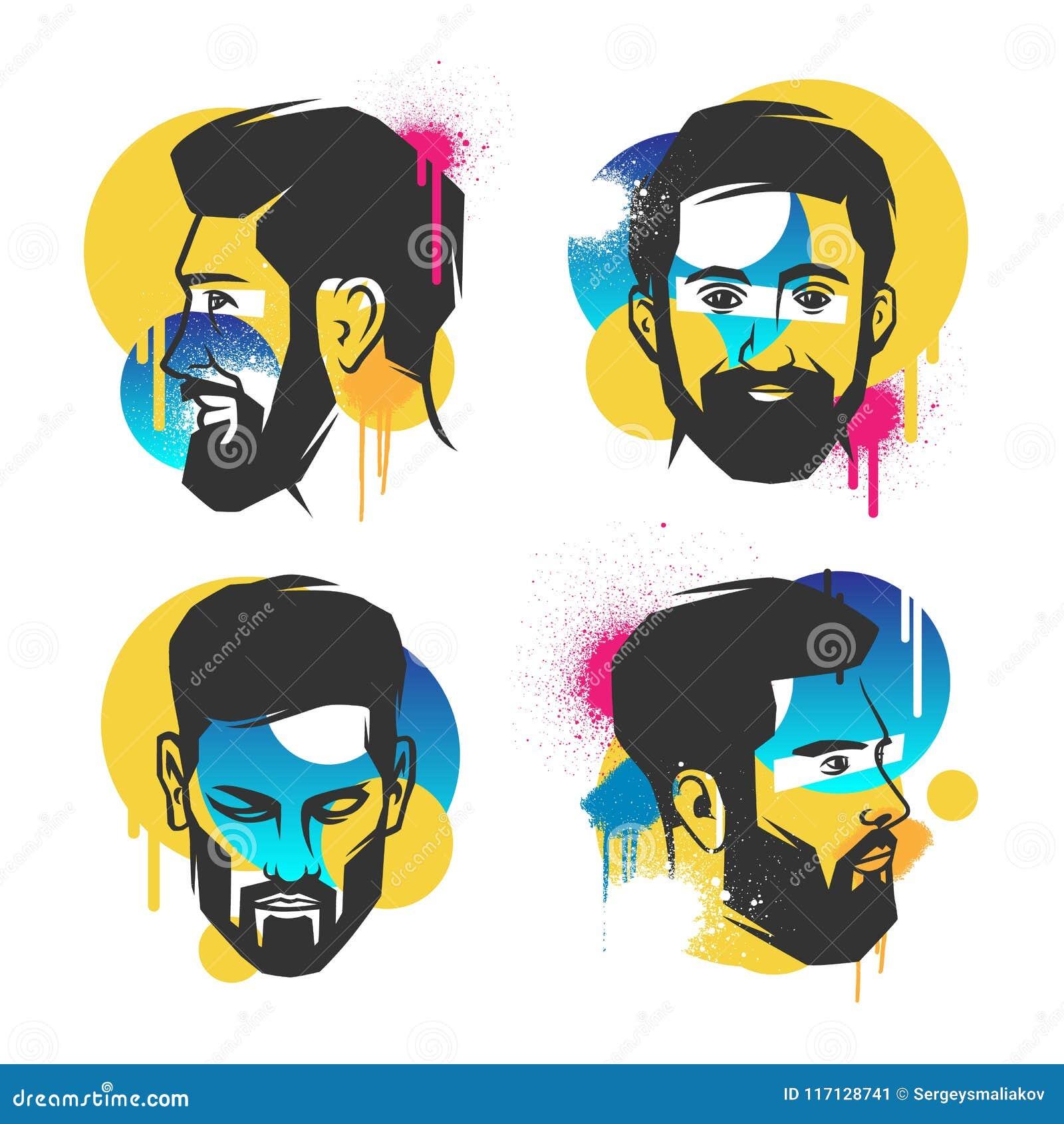 Creative concepts of a face.