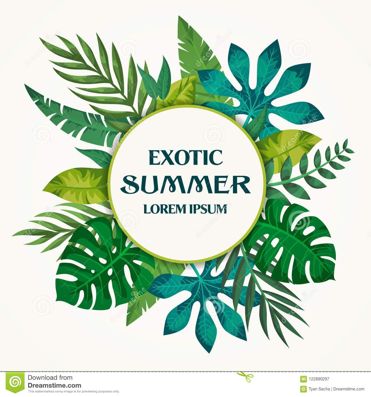 Trendy Summer Tropical Leaves Vector Design On White Background Stock Vector Illustration Of Ecology Island 122890297 The best selection of royalty free tropical leaves background vector art, graphics and stock illustrations. https www dreamstime com trendy summer tropical leaves vector design bright exotic card can be used like bunner flyer invitation card trendy summer image122890297