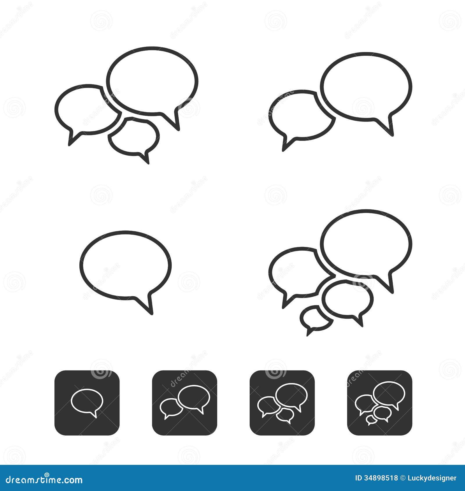 Square Speech Bubble Icon
