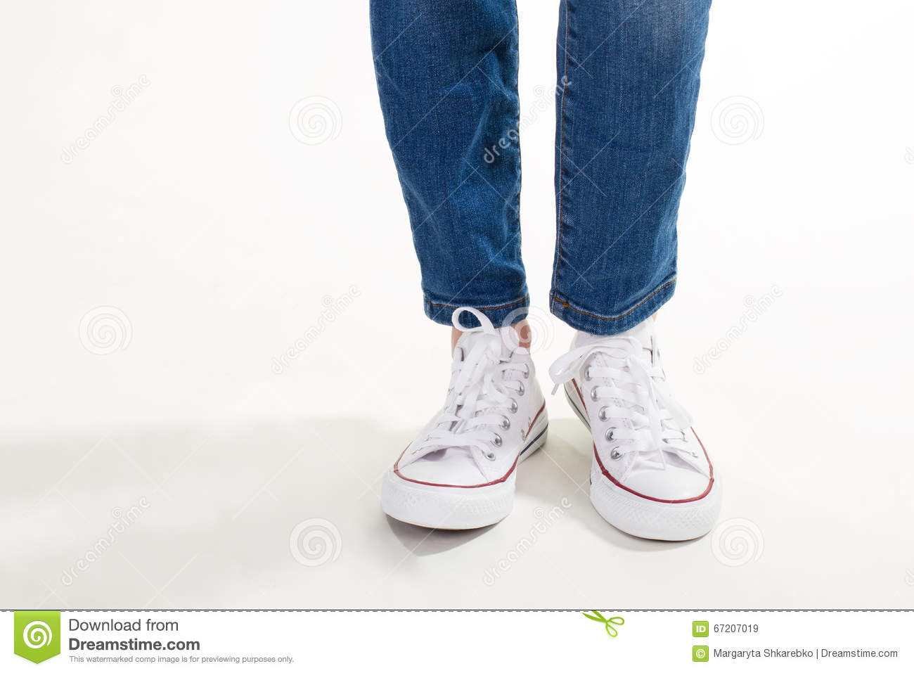 Trendy White Sneakers Stock Image Image Of Clothing 67207019