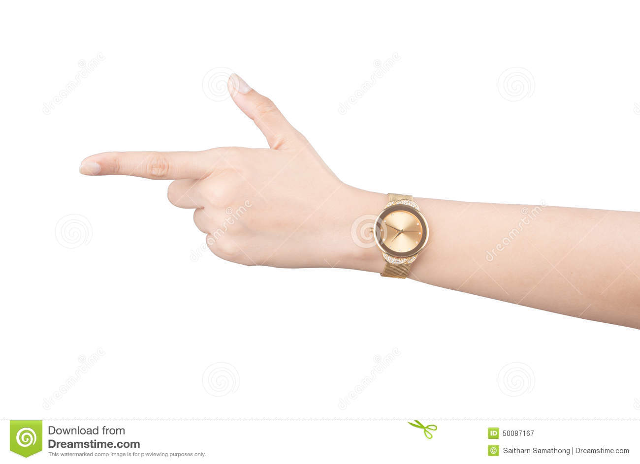 Wrist Watch On Hand Isolated Royalty-Free Stock Photo ...