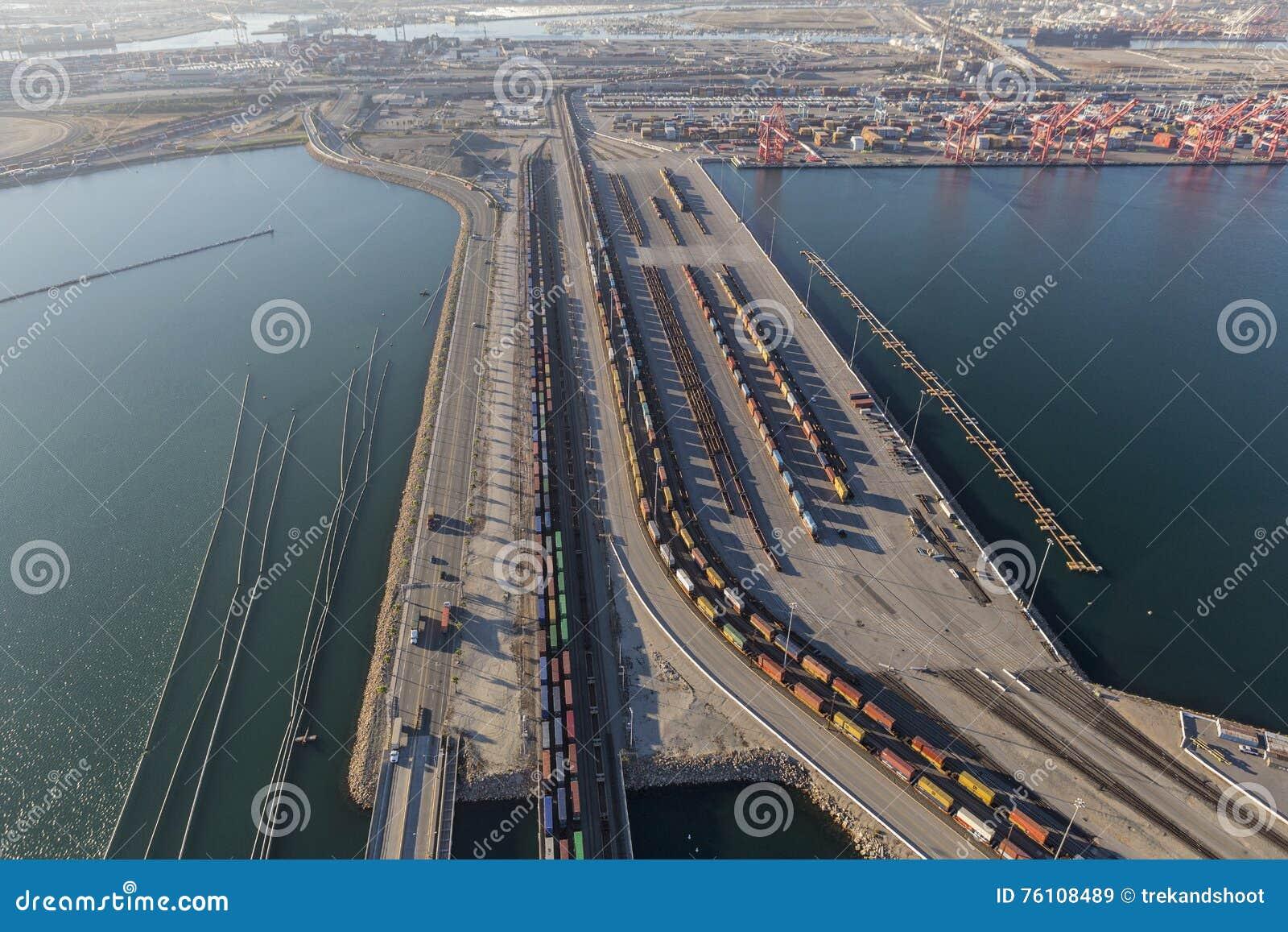 Treni del porto di Long Beach e di Los Angeles