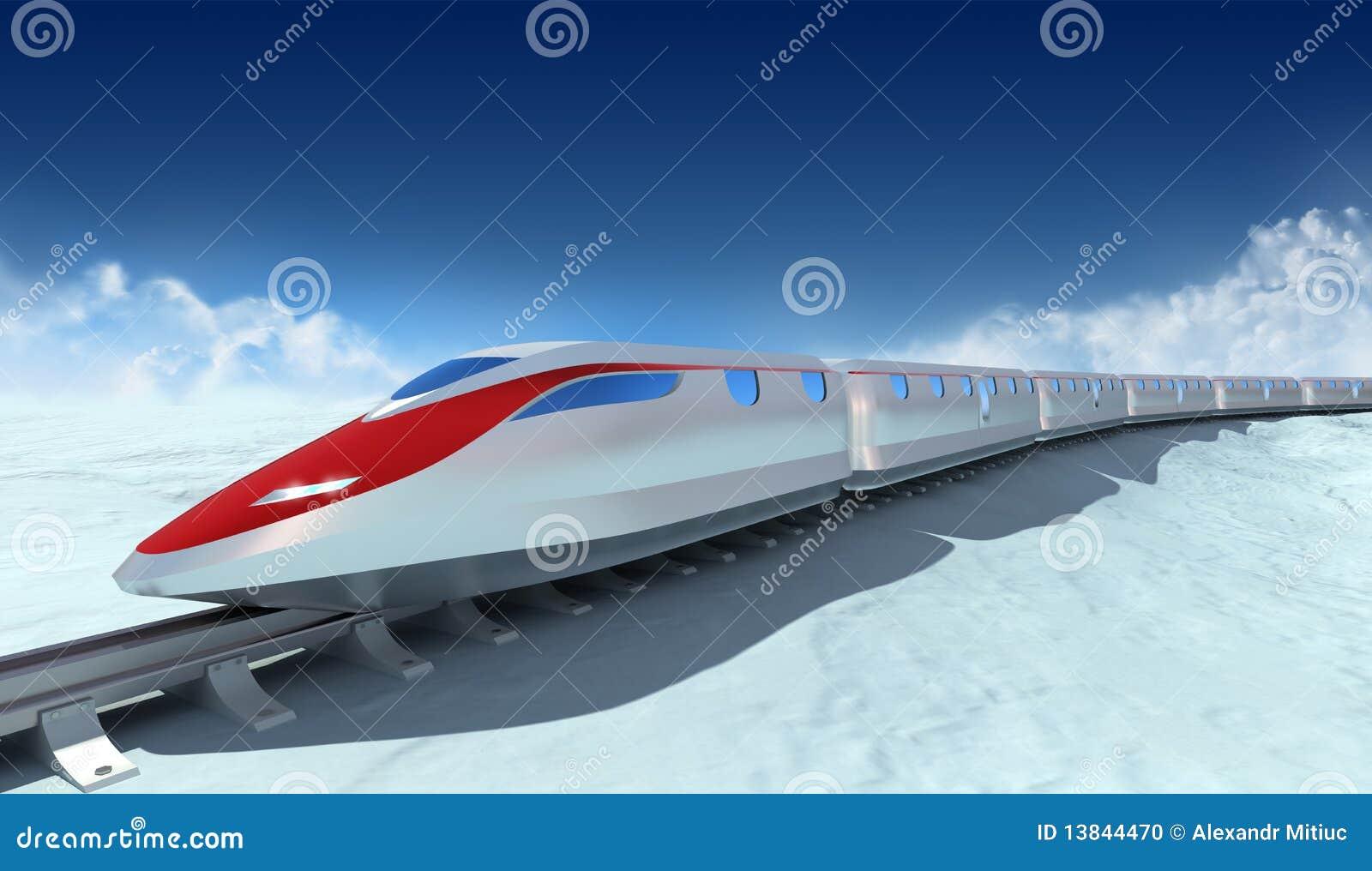 Treno del futuro con le nubi sui precedenti