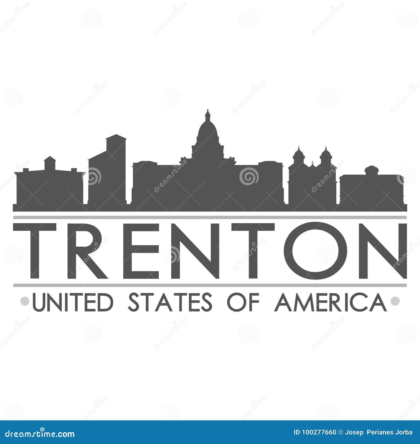Trenton Skyline Symbol Design City Vector Art