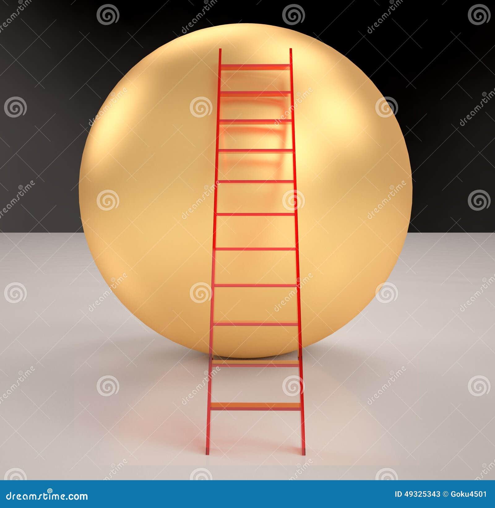 Treppe auf den Goldbereichen übertragen