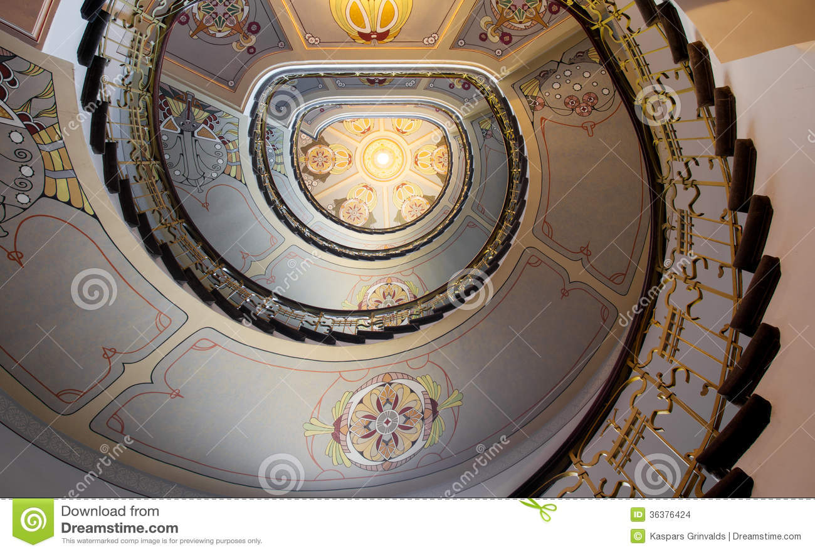 treppe im jugendstil stockbilder bild 36376424. Black Bedroom Furniture Sets. Home Design Ideas
