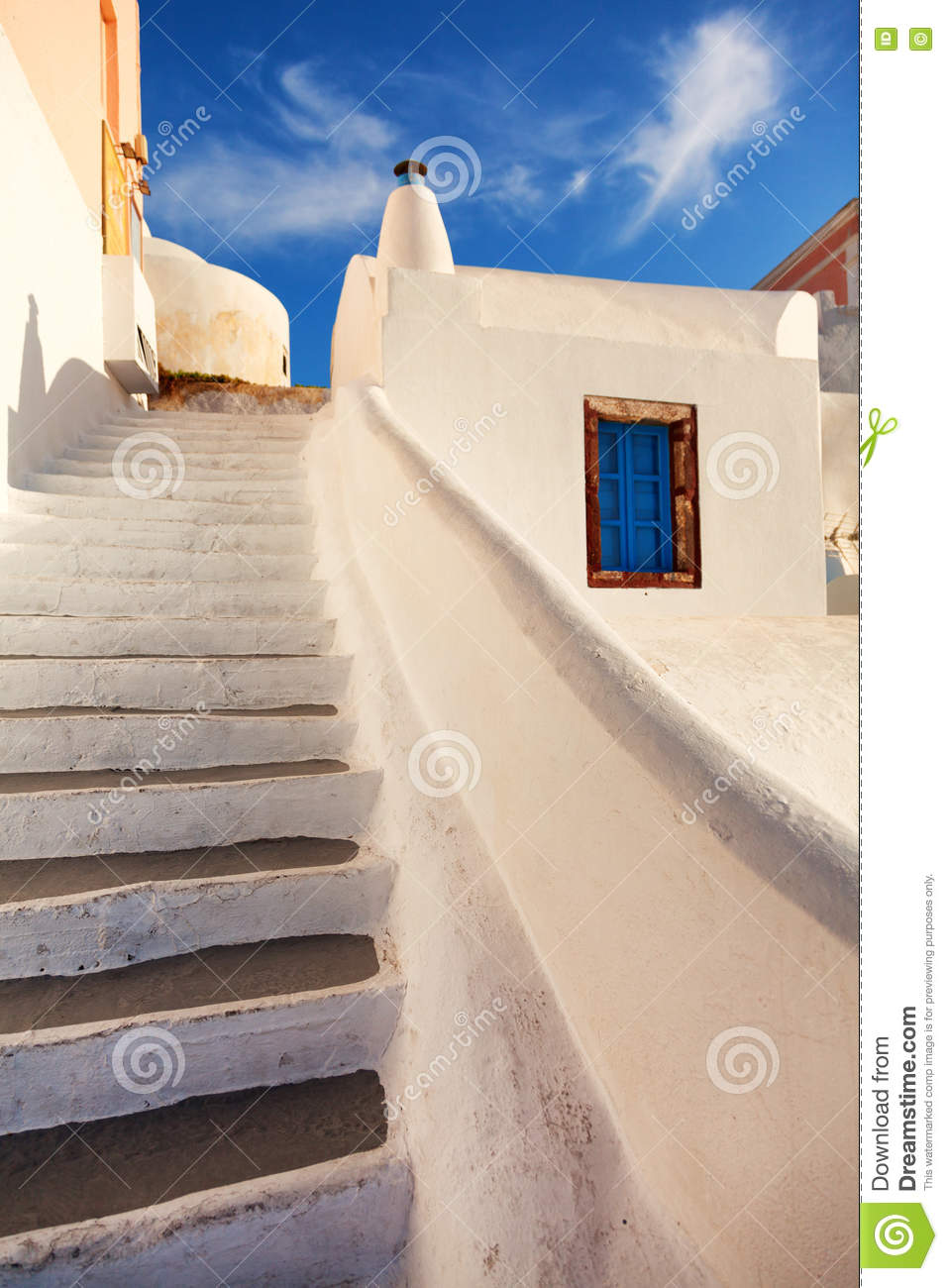 treppe in oia santorini stockfoto bild 72220246. Black Bedroom Furniture Sets. Home Design Ideas