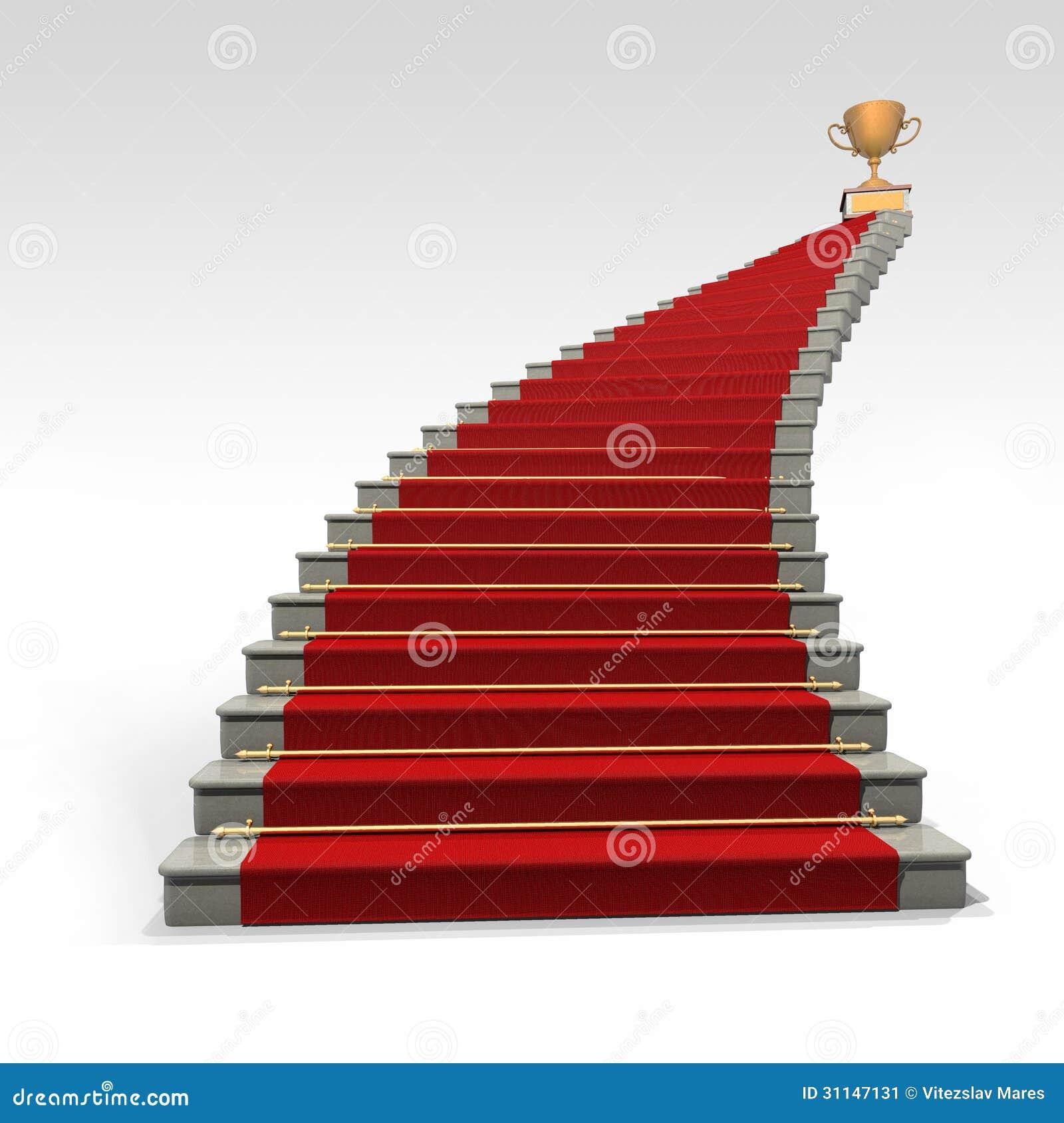 treppe und roter teppich stockbild bild 31147131. Black Bedroom Furniture Sets. Home Design Ideas