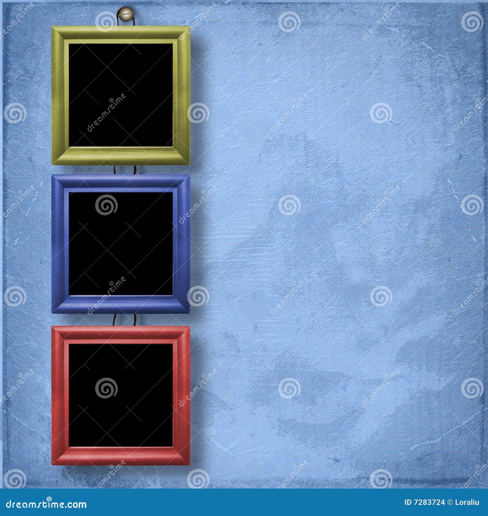 Tres armazones de madera para el retrato