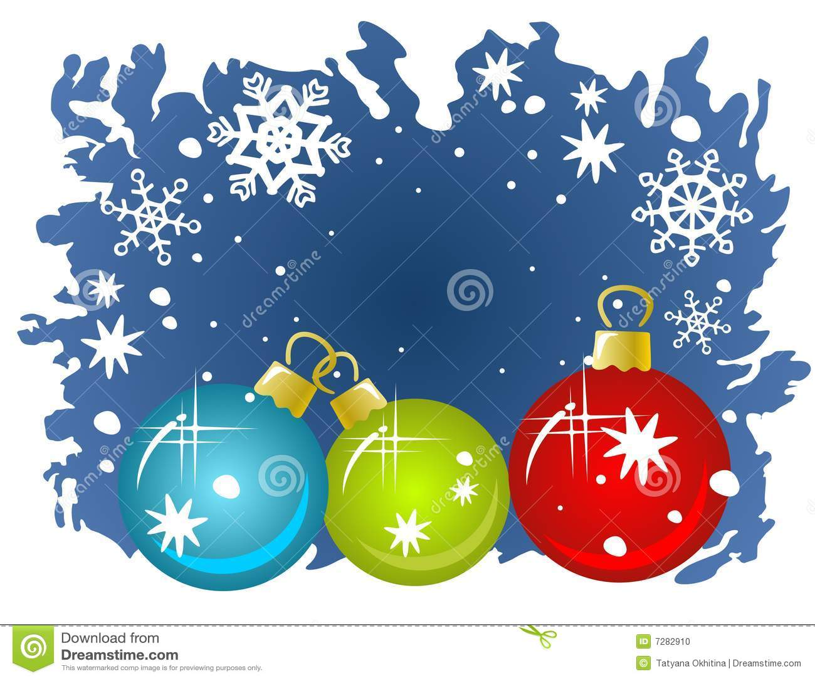 Tres bolas de la Navidad