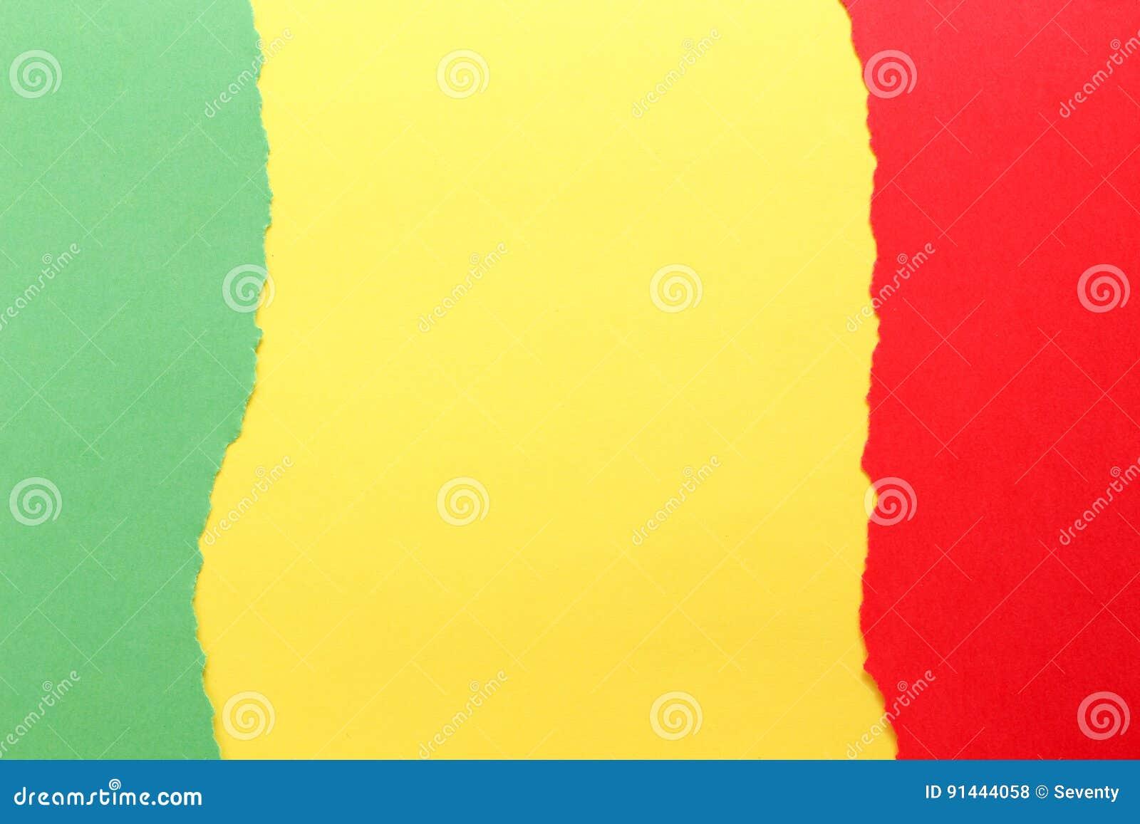 color verde amarillo y rojo