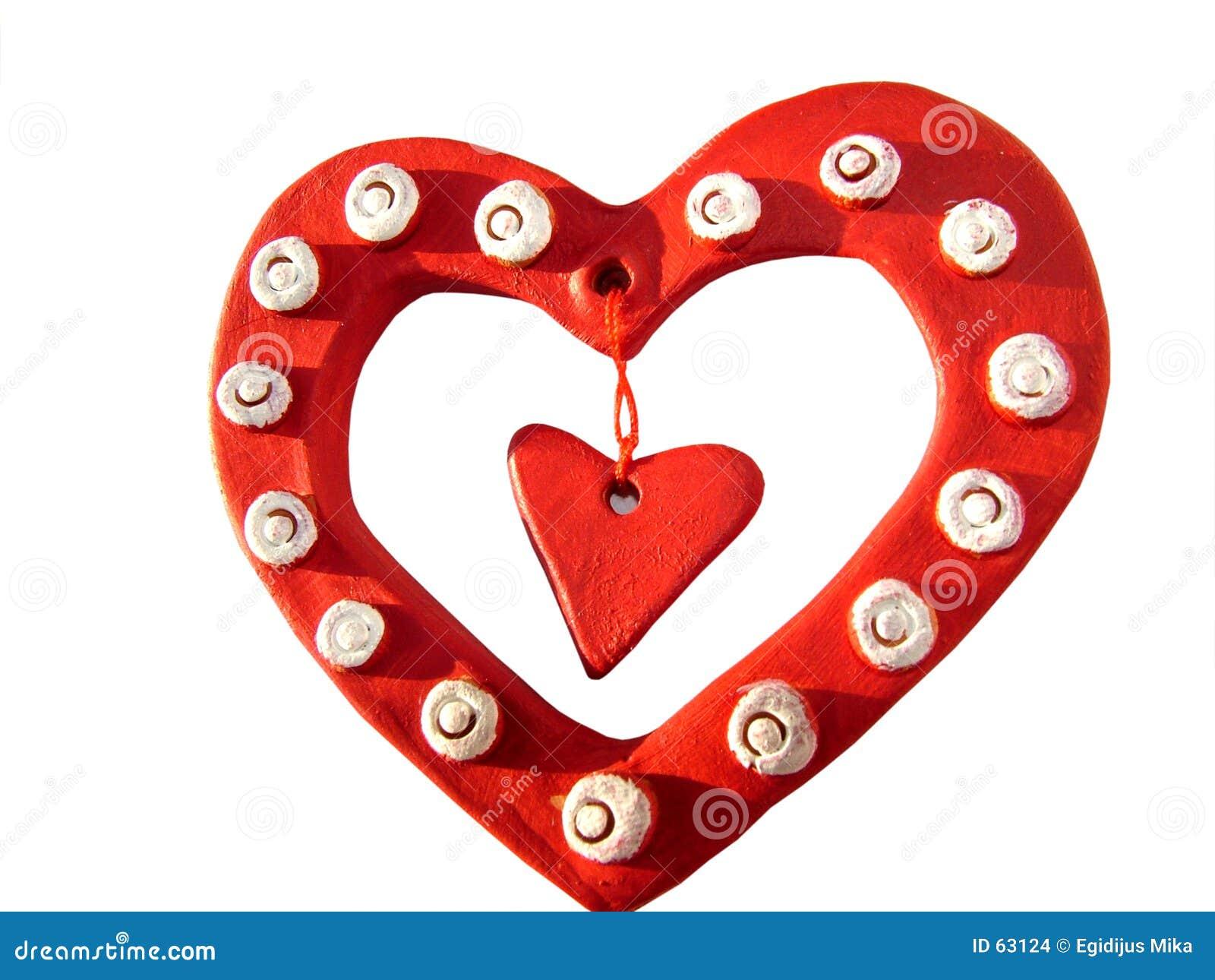 Tres corazones de la tarjeta del día de San Valentín