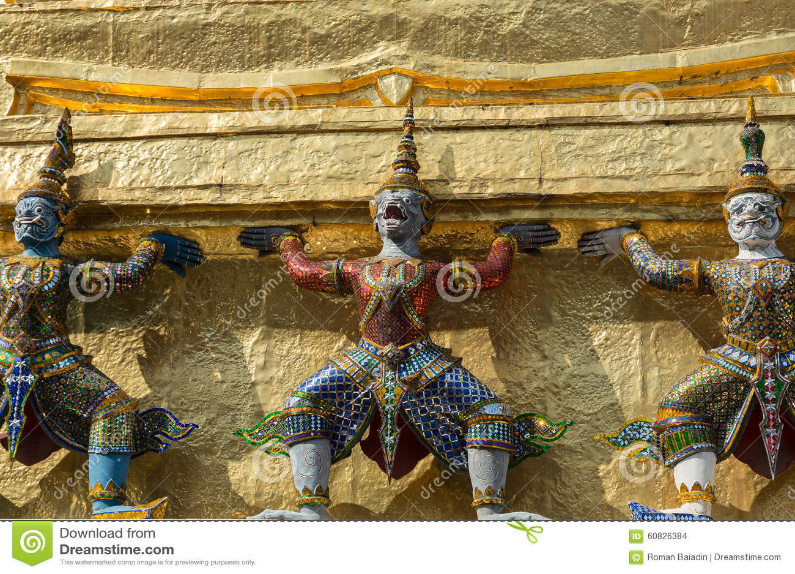 Tres demonios Yaksha