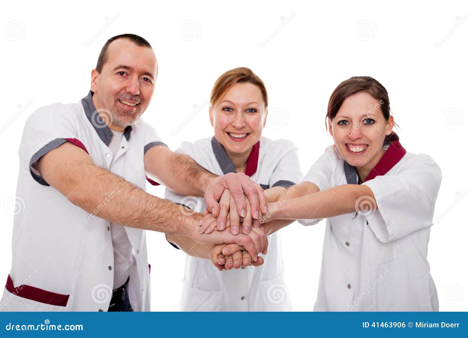 Enfermeras dando trabajo de mano