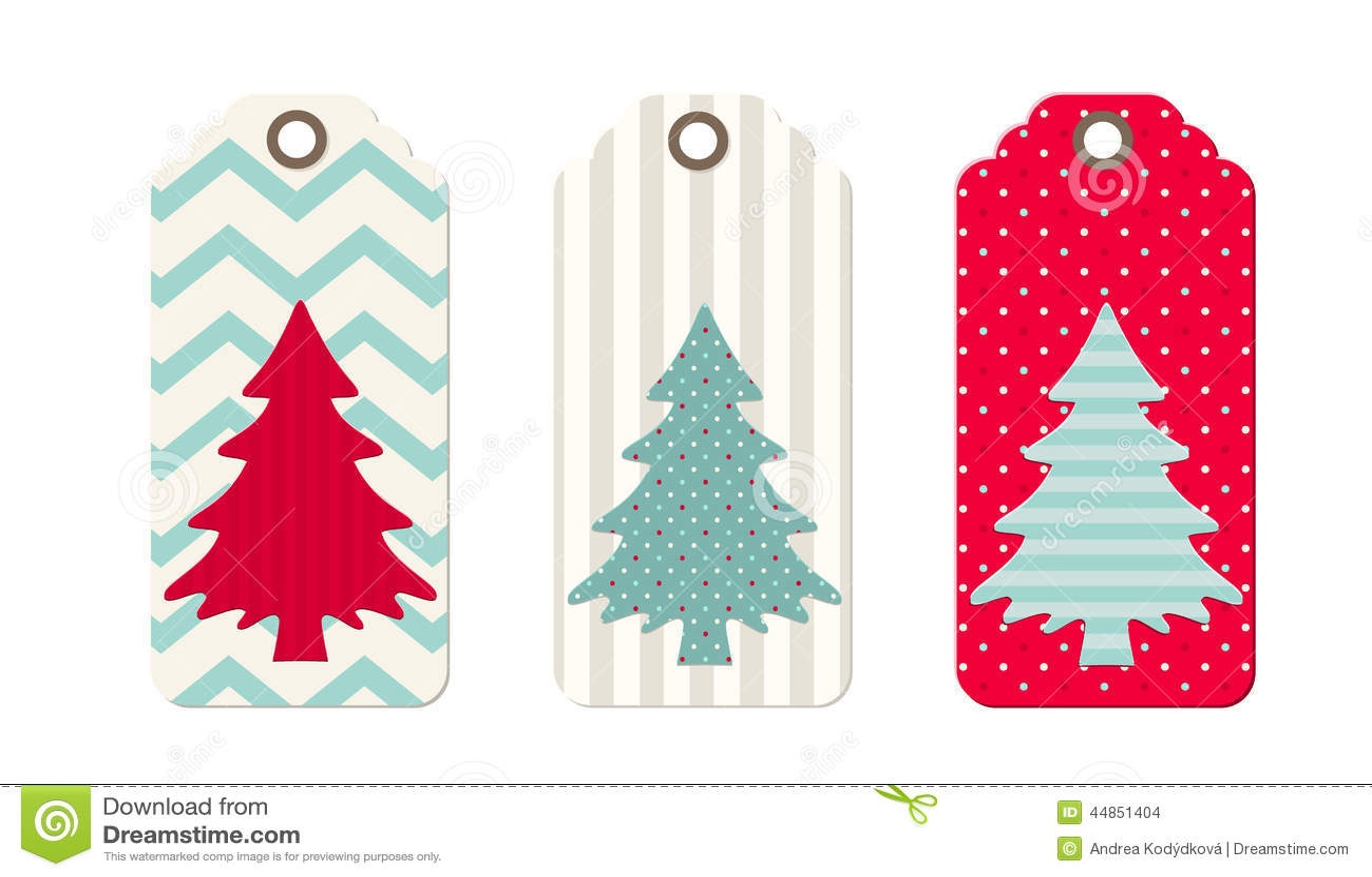 Tres etiquetas de la Navidad en estilo elegante lamentable