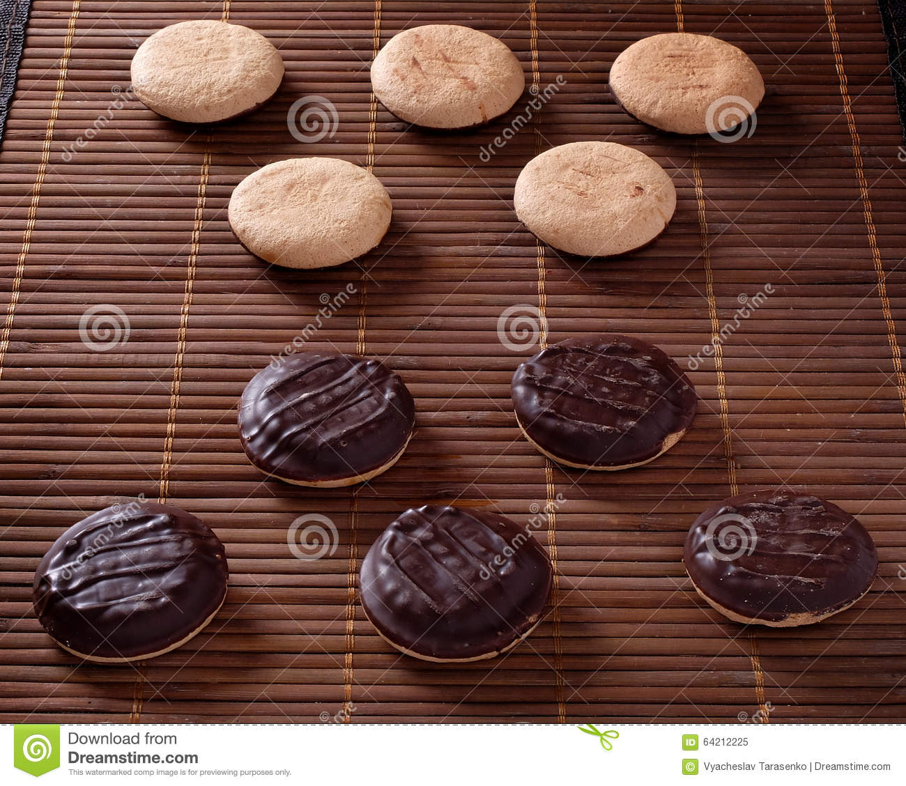 Tres galletas del chocolate