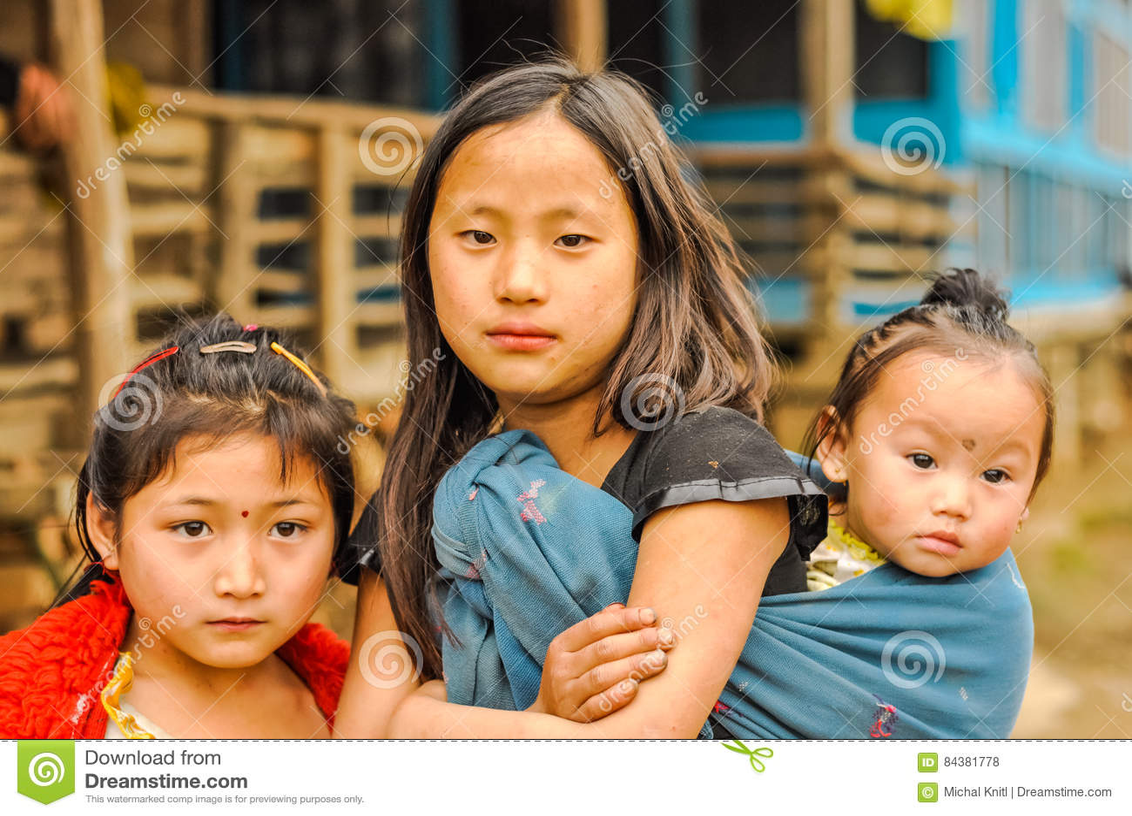 Tres hermanas en Arunachal Pradesh