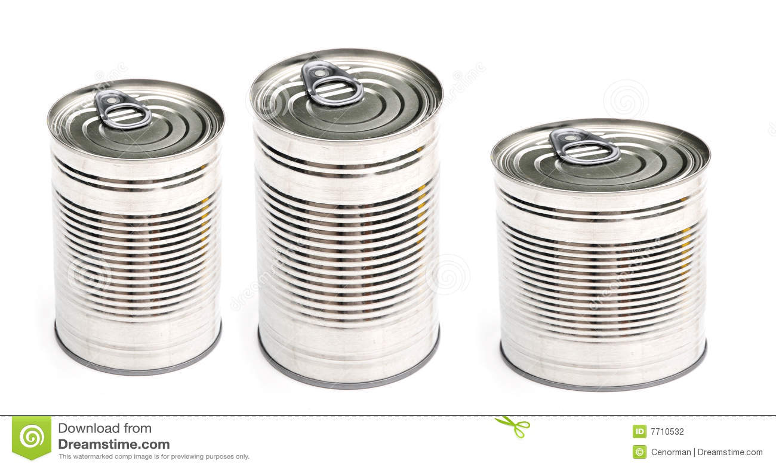 Tres latas de conserva foto de archivo. Imagen de paquete - 7710532