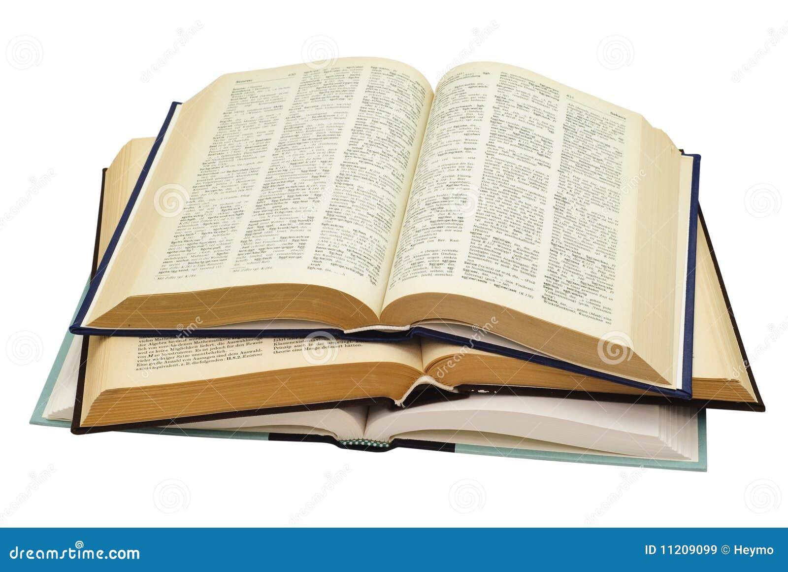 Tres Libros Abiertos Fotografía de archivo libre de regalías ...