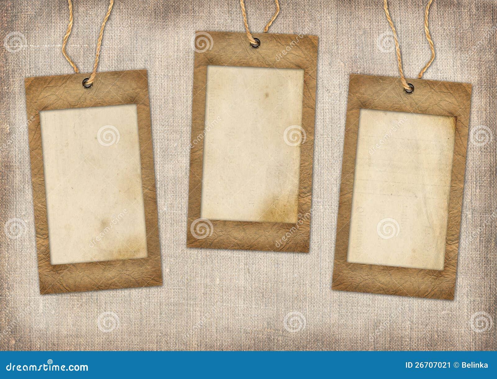 Tres Marcos De La Cartulina Imagen de archivo - Imagen de álbum ...