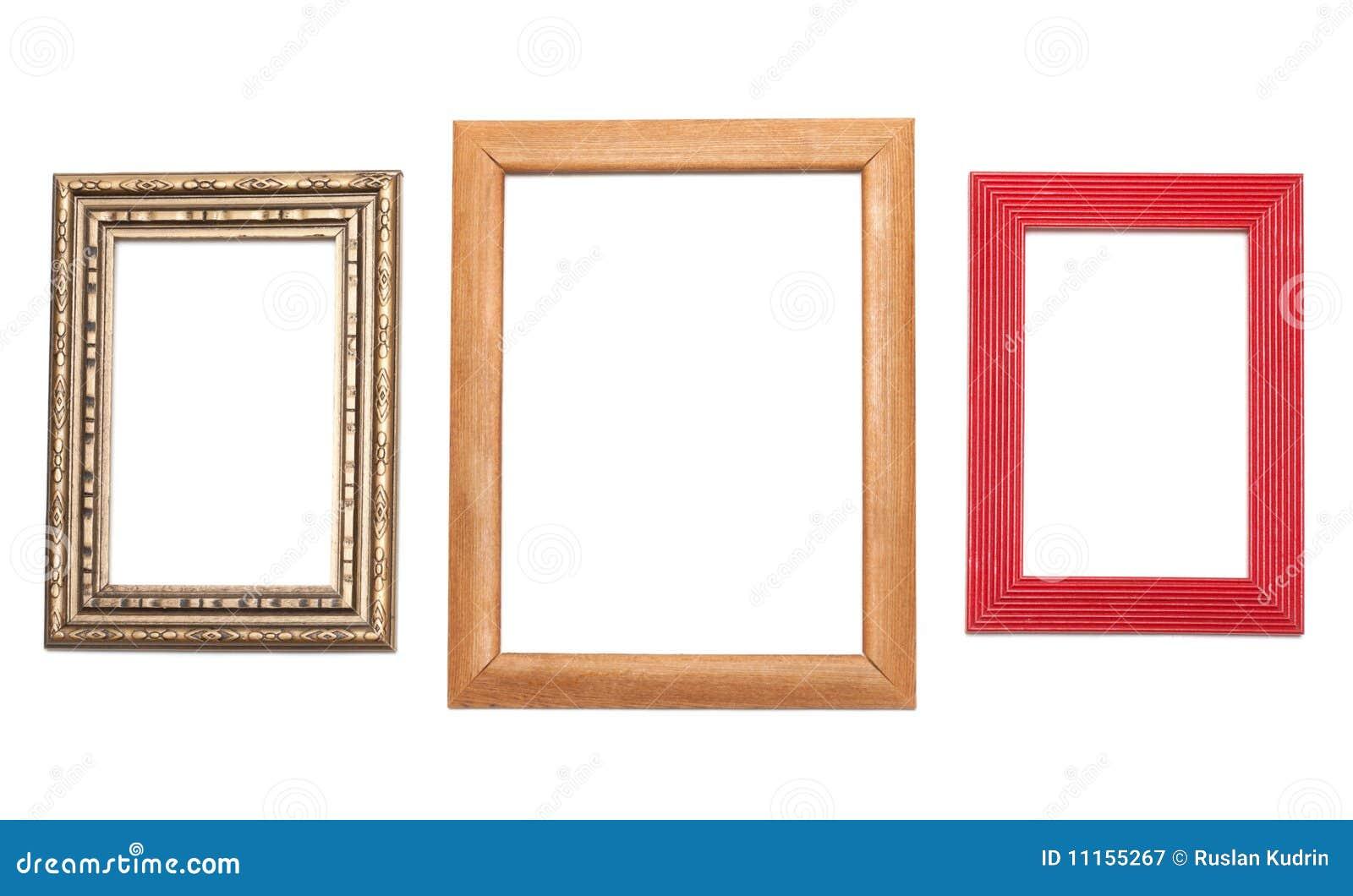 Tres Marcos Para La Fotografía Imagen de archivo - Imagen de ...