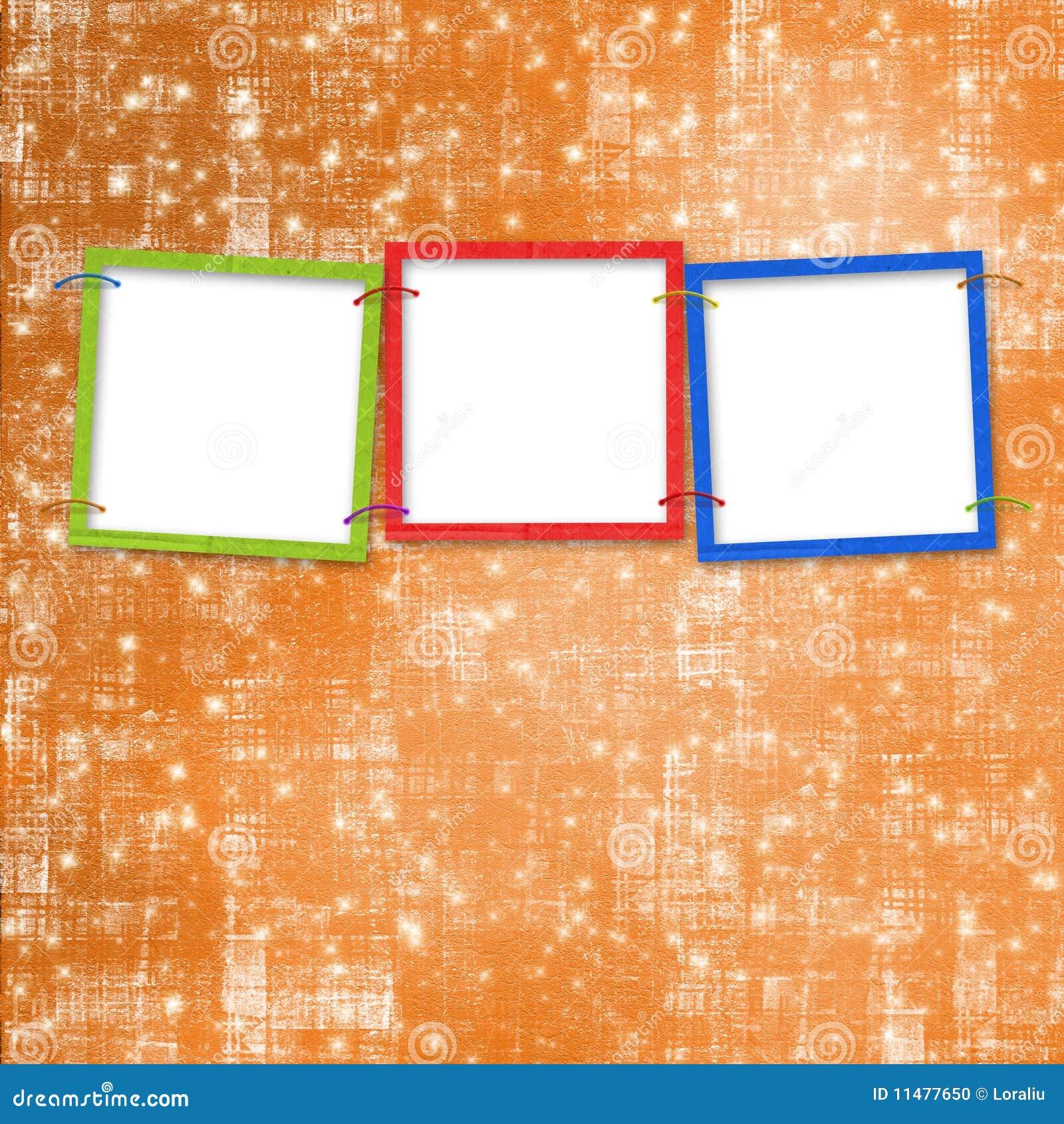 Tres marcos para las fotos foto de archivo imagen 11477650 - Marcos de fotos de pared ...