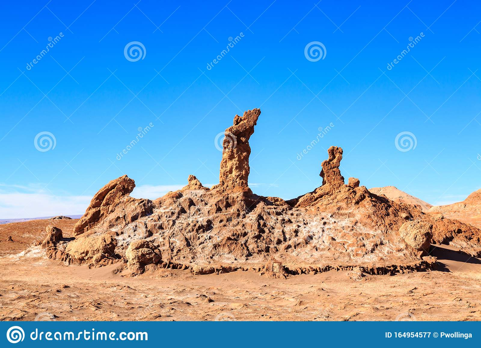 Tres Marias Near The Moon Valley Valle De La Luna In The Atacama Desert Chile Stock Image Image Of Stone Pedro 164954577