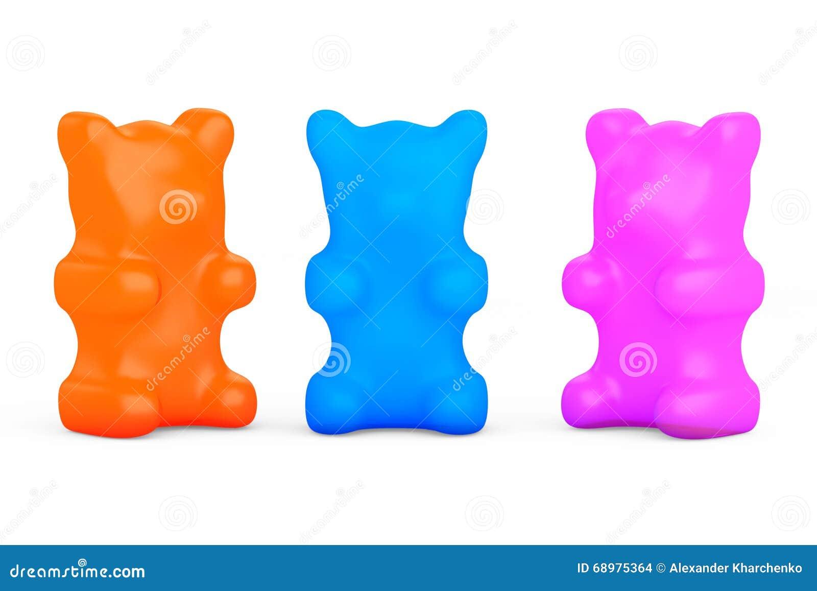 Tres osos gomosos del caramelo