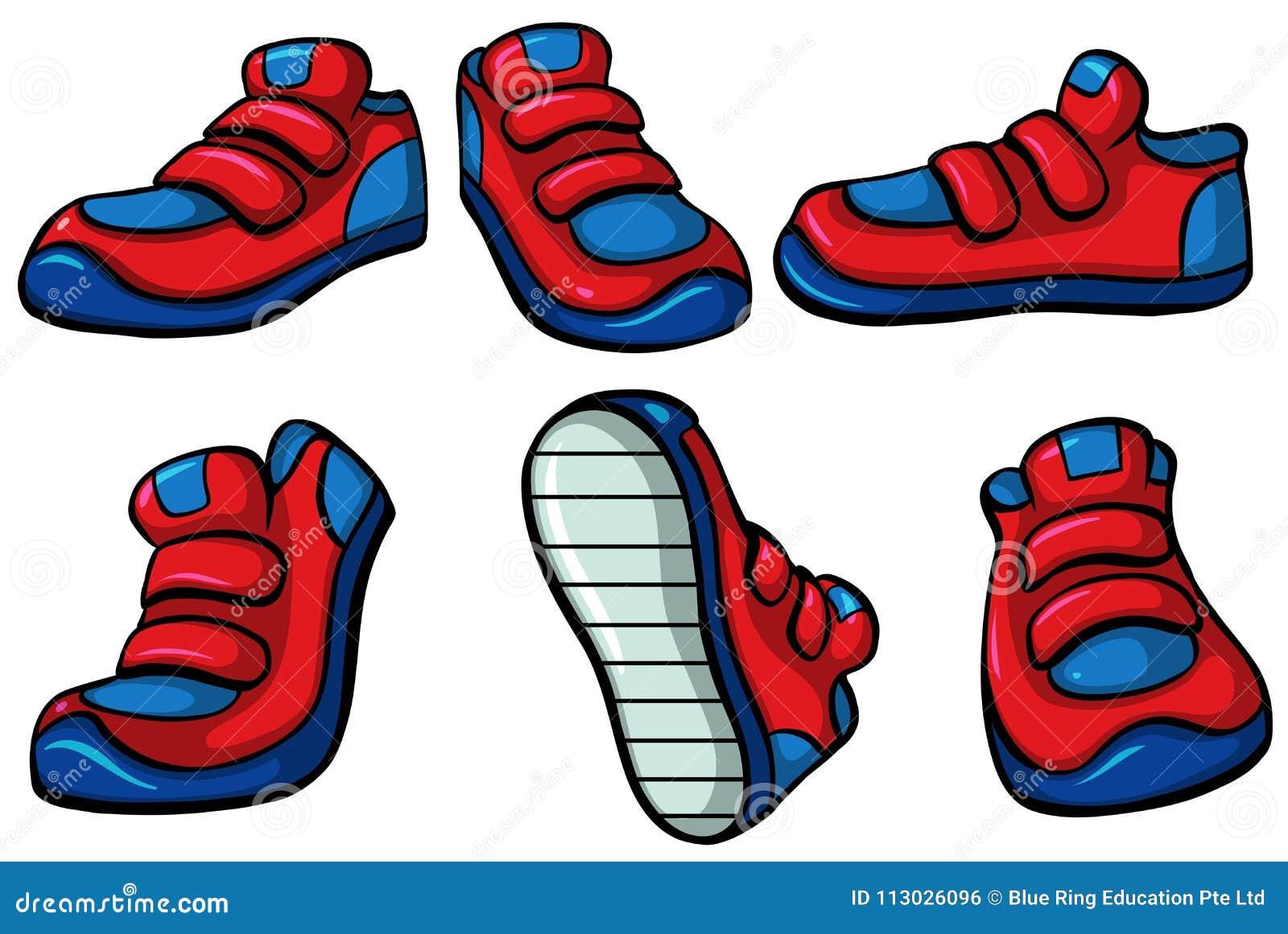 Tres pares de zapatillas de deporte rojas