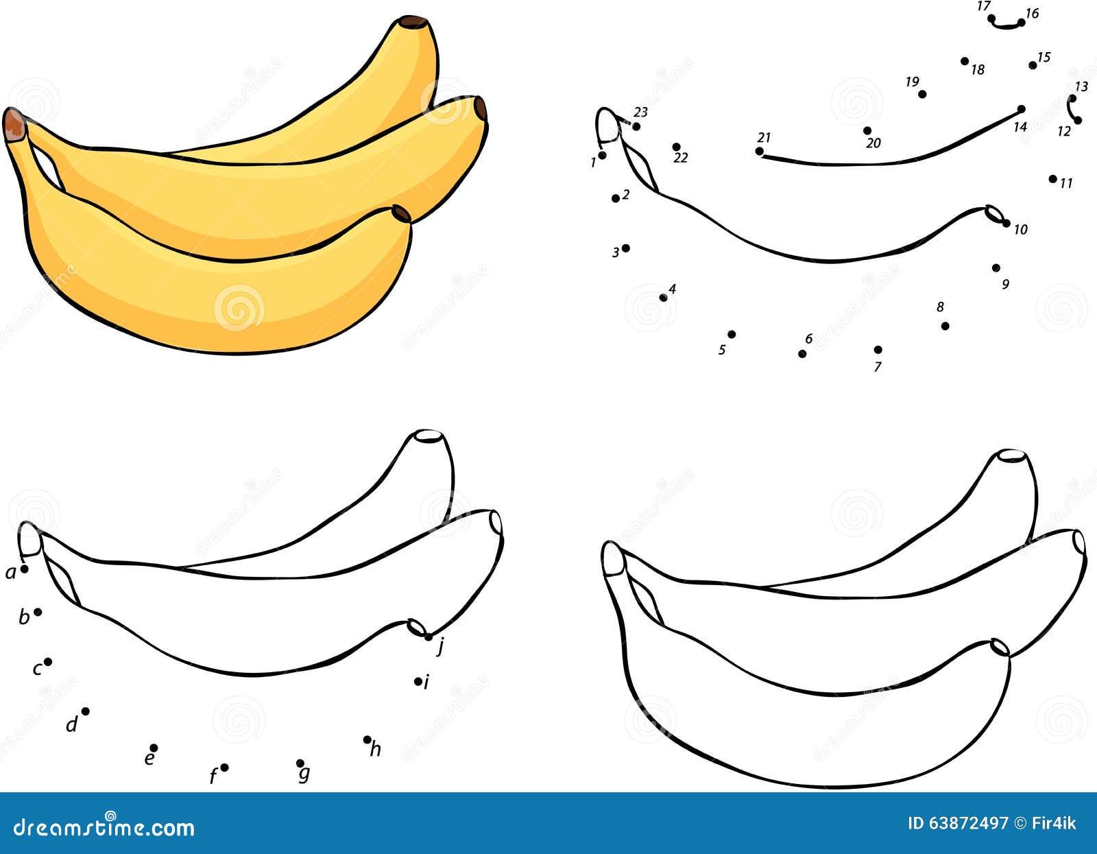 Tres Plátanos Amarillos De La Historieta Ilustración Del